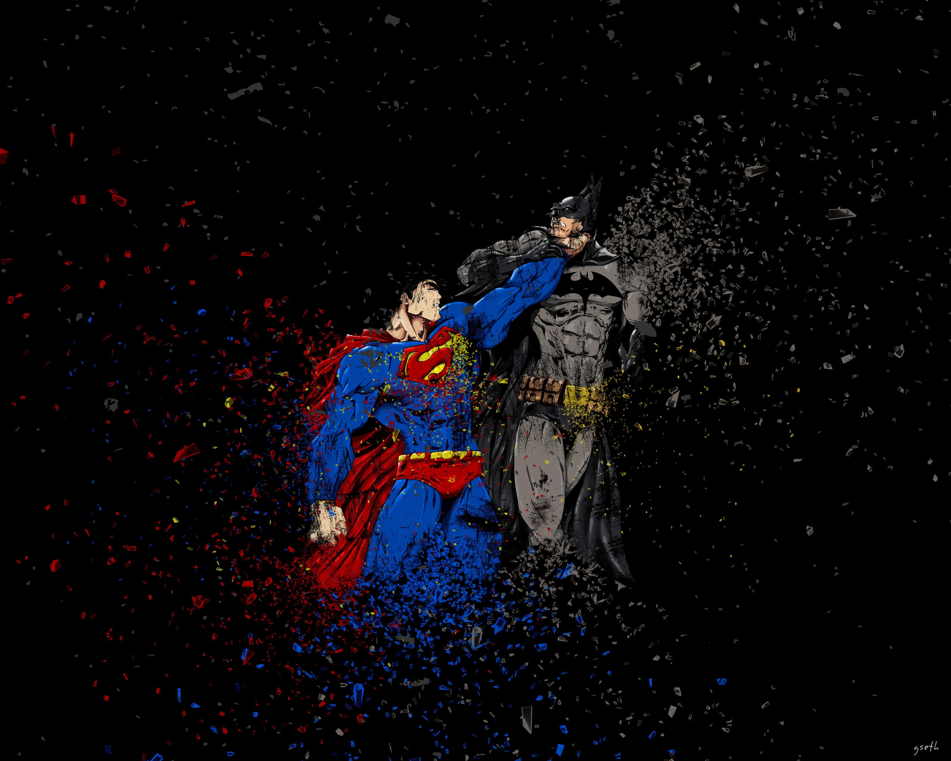 Batman Vs Superman Ruggon Style HD 4K Wallpaper