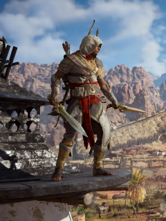 240x320 Bayek Of Siwa Assassins Creed Origins Android Mobile Nokia