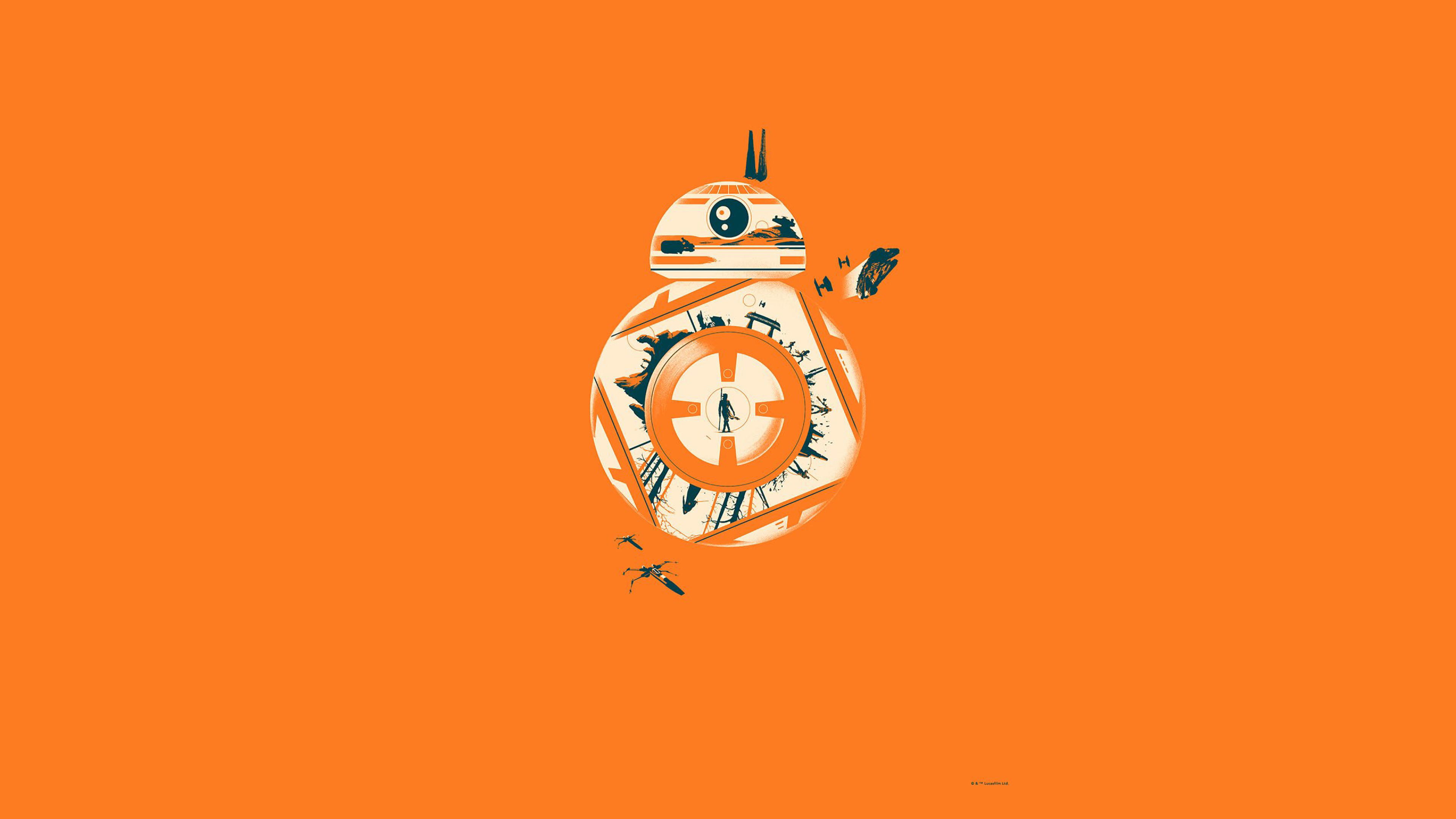 3840x2160 Bb 8 Star Wars 4k Wallpaper Hd Minimalist 4k Wallpapers Images Photos And Background