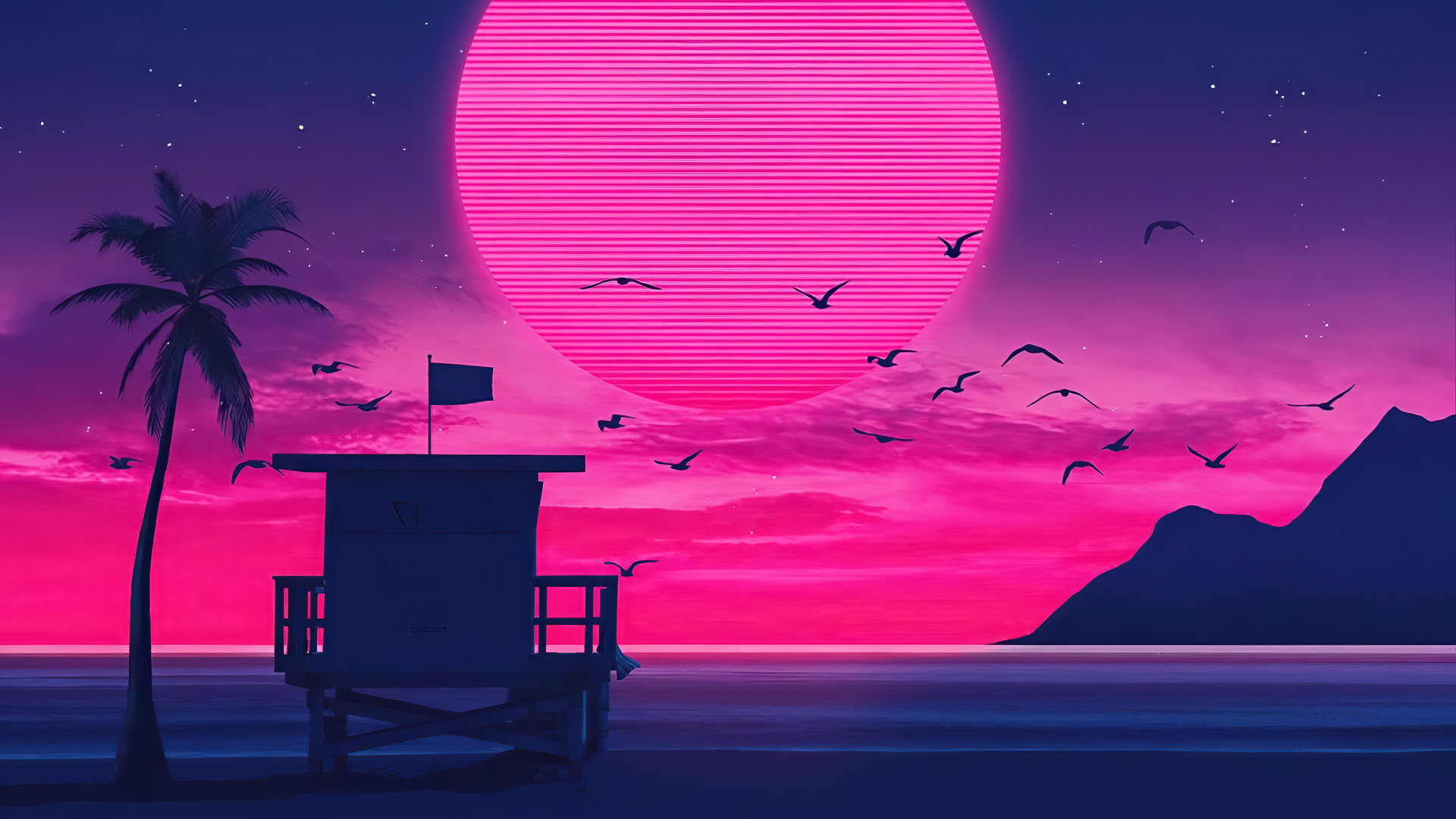 Beach Retro Wave Wallpaper Hd Artist 4k Wallpapers Images Photos And Background