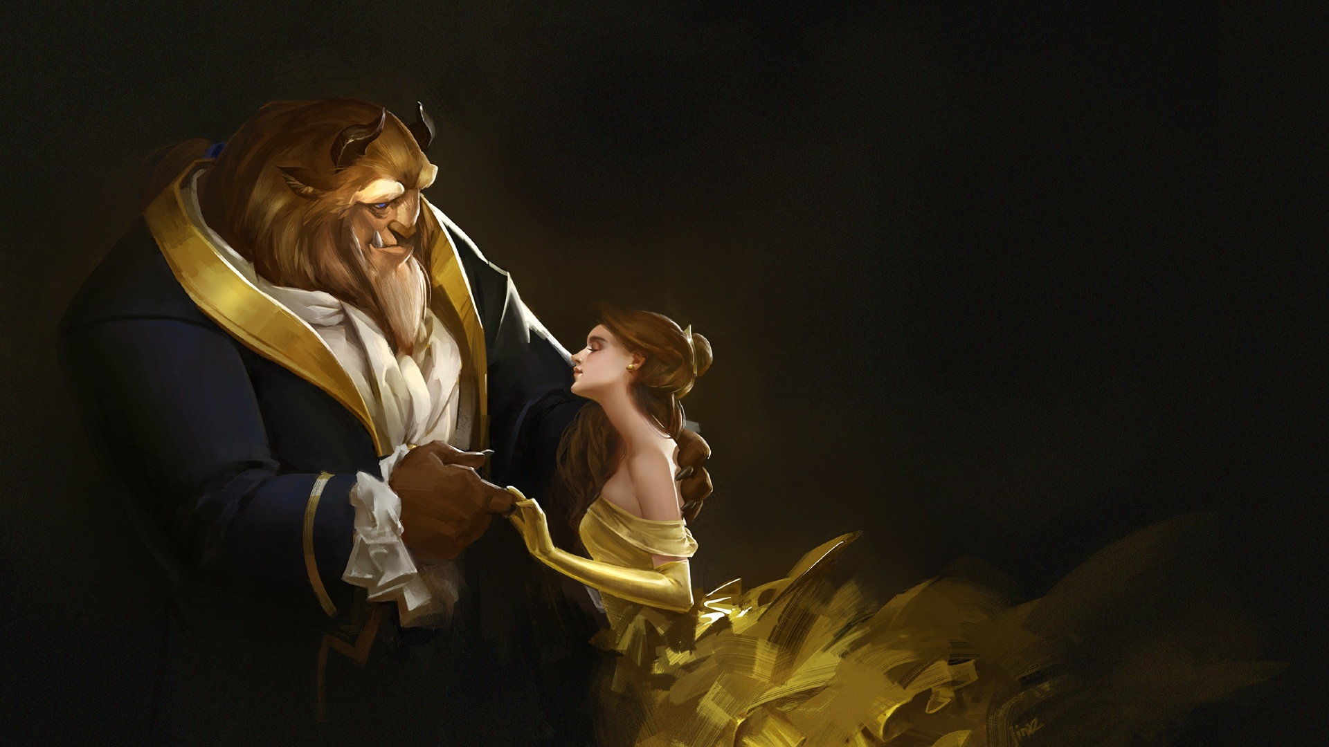 1920x1080 Beauty And The Beast Artwork 1080p Laptop Full Hd