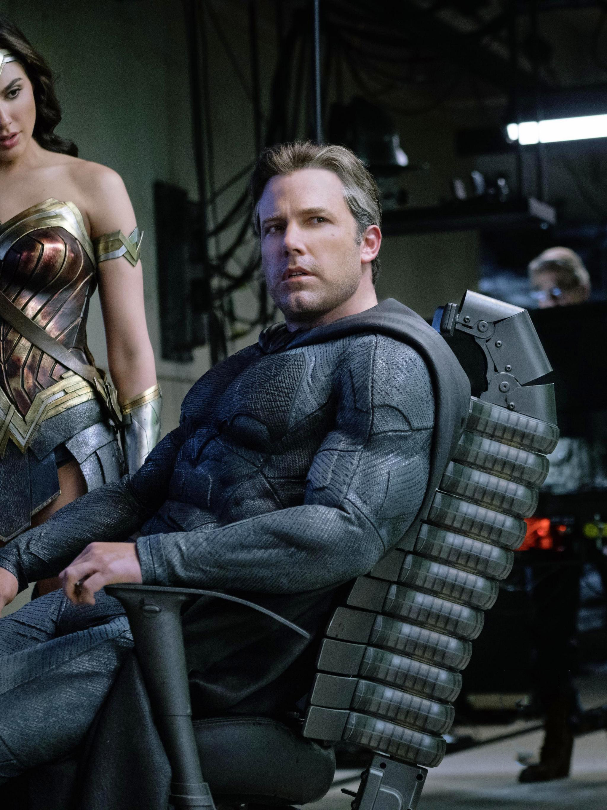 2048x2732 Ben Affleck As Batman Gal Gadot Wonder Woman Justice