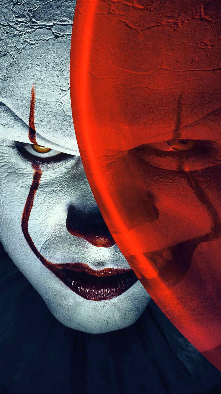 Bill Skarsg 229 Rd From It As Pennywise Clown Hd 4k Wallpaper