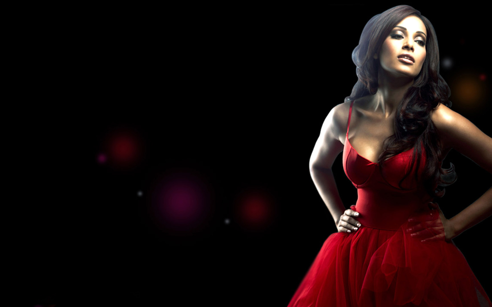 download bipasha basu in red dress photoshoot 1680x1050 resolution