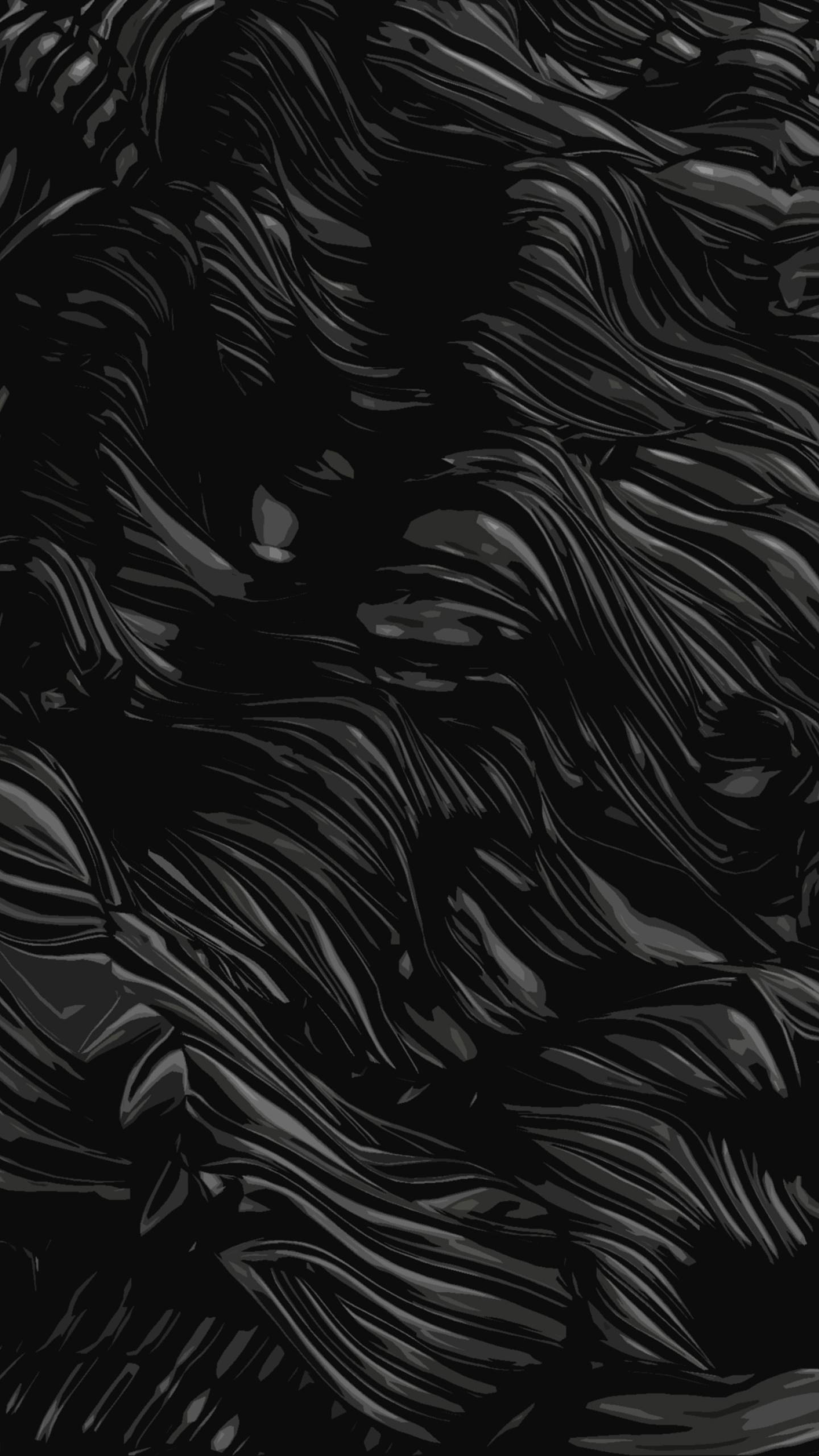 1440x2560 Black Abstract Dark Poster Oil Samsung Galaxy S6