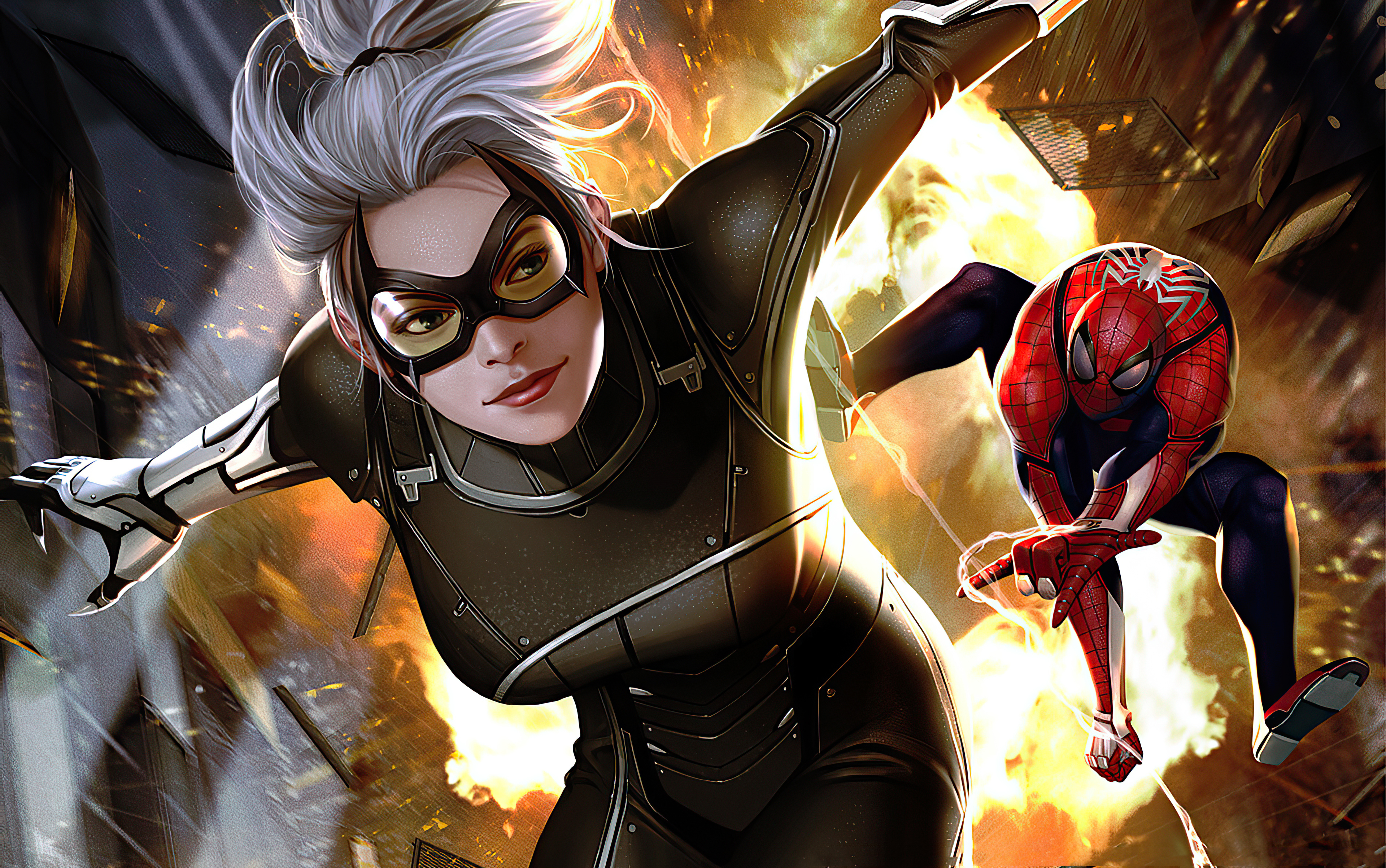 2560x1024 Black Cat Marvel Comic Art 2560x1024 Resolution Wallpaper Hd Superheroes 4k Wallpapers Images Photos And Background