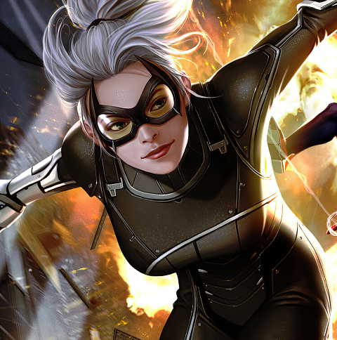 480x484 Black Cat Marvel Comic Art Android One Wallpaper Hd Superheroes 4k Wallpapers Images Photos And Background