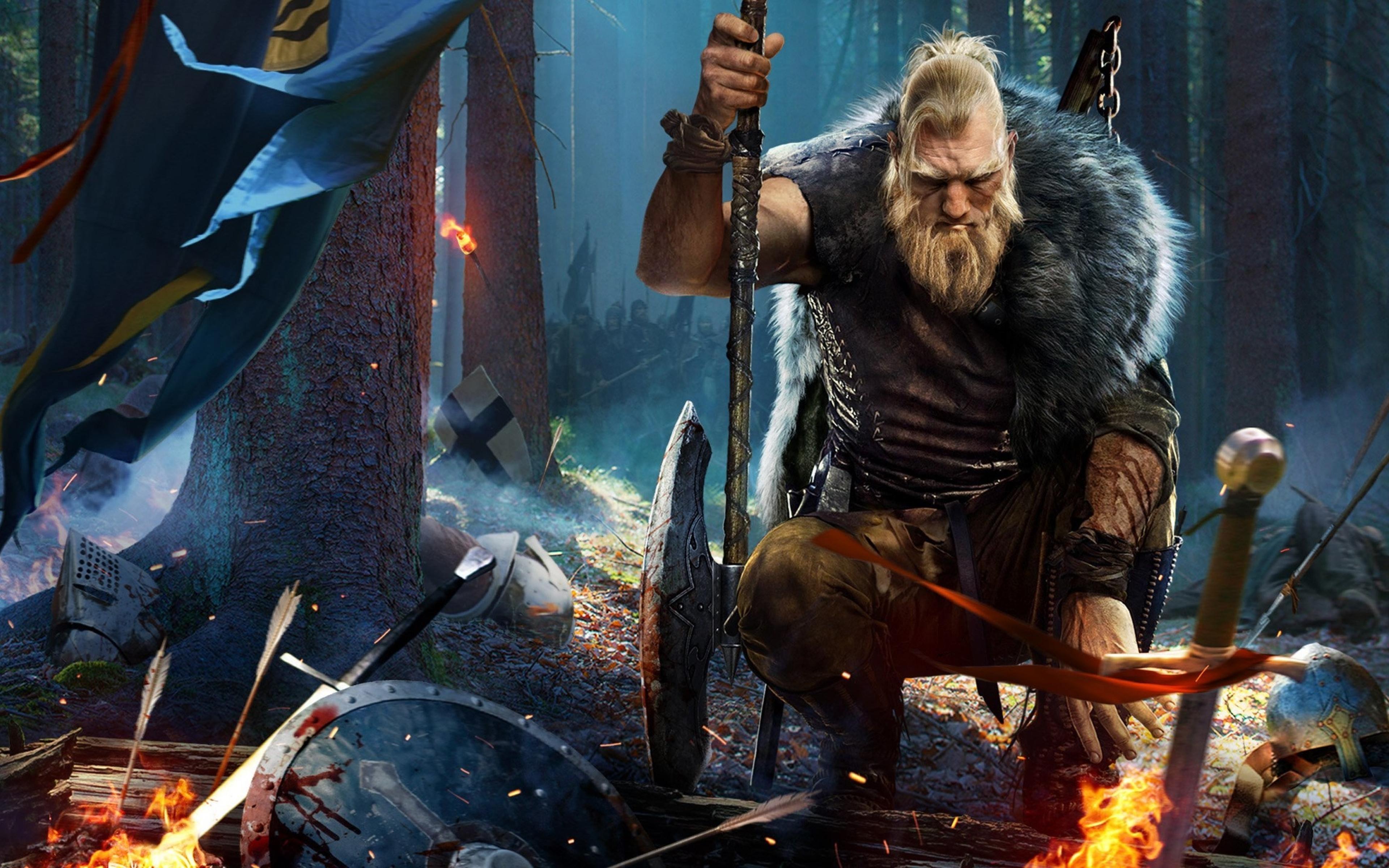 Black Desert Online Viking Warrior, Full HD 2K Wallpaper