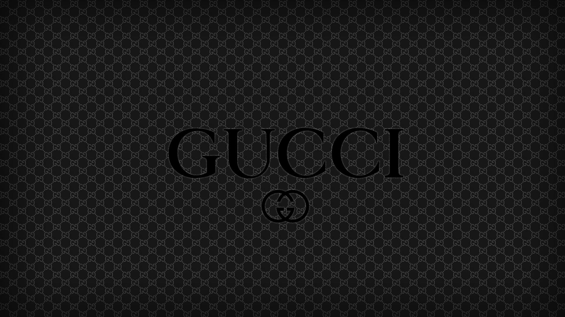 2560x1440 Black Gucci Logo Brand 1440p Resolution