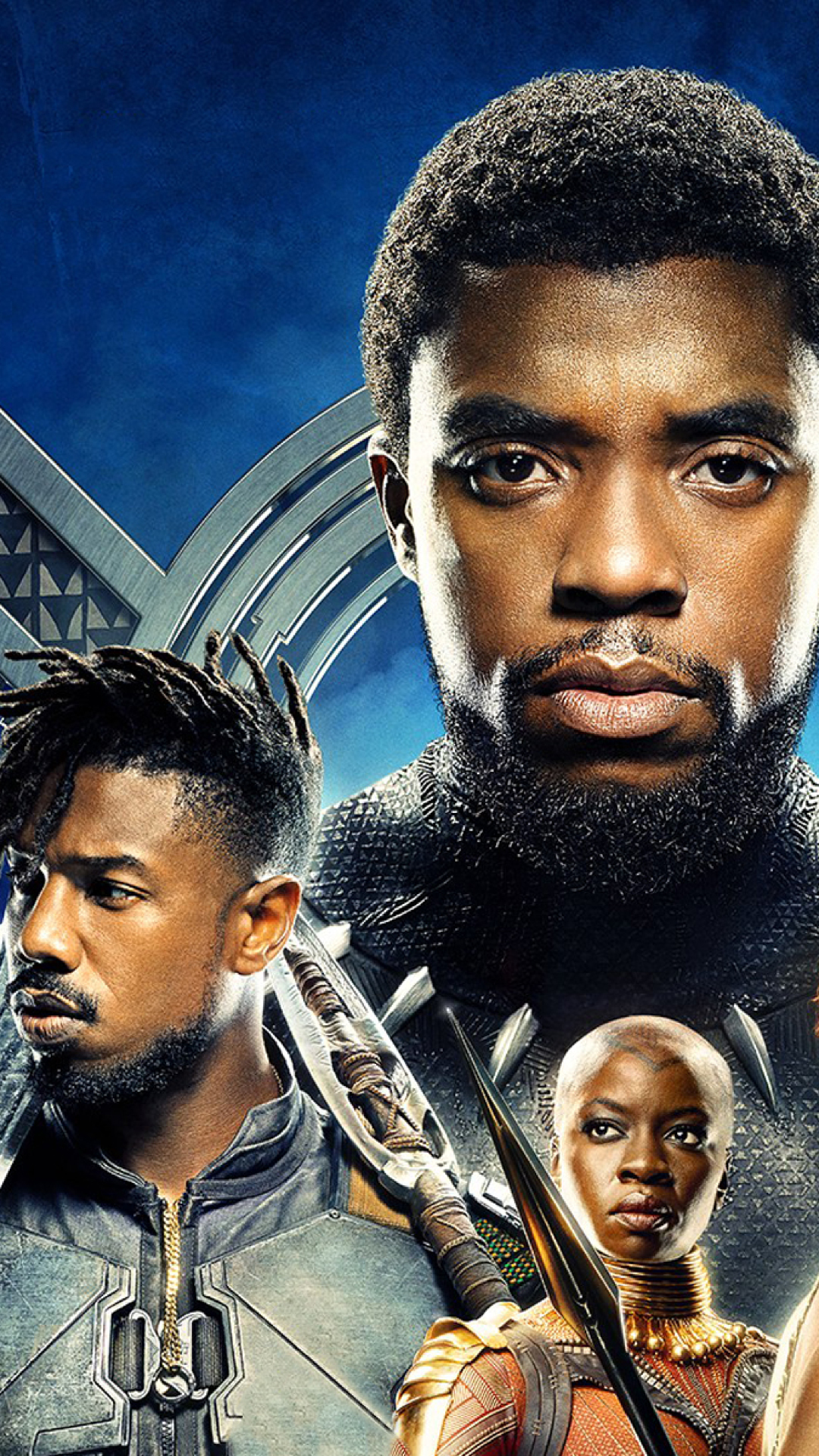 download black panther 2018 movie 480x854 resolution full