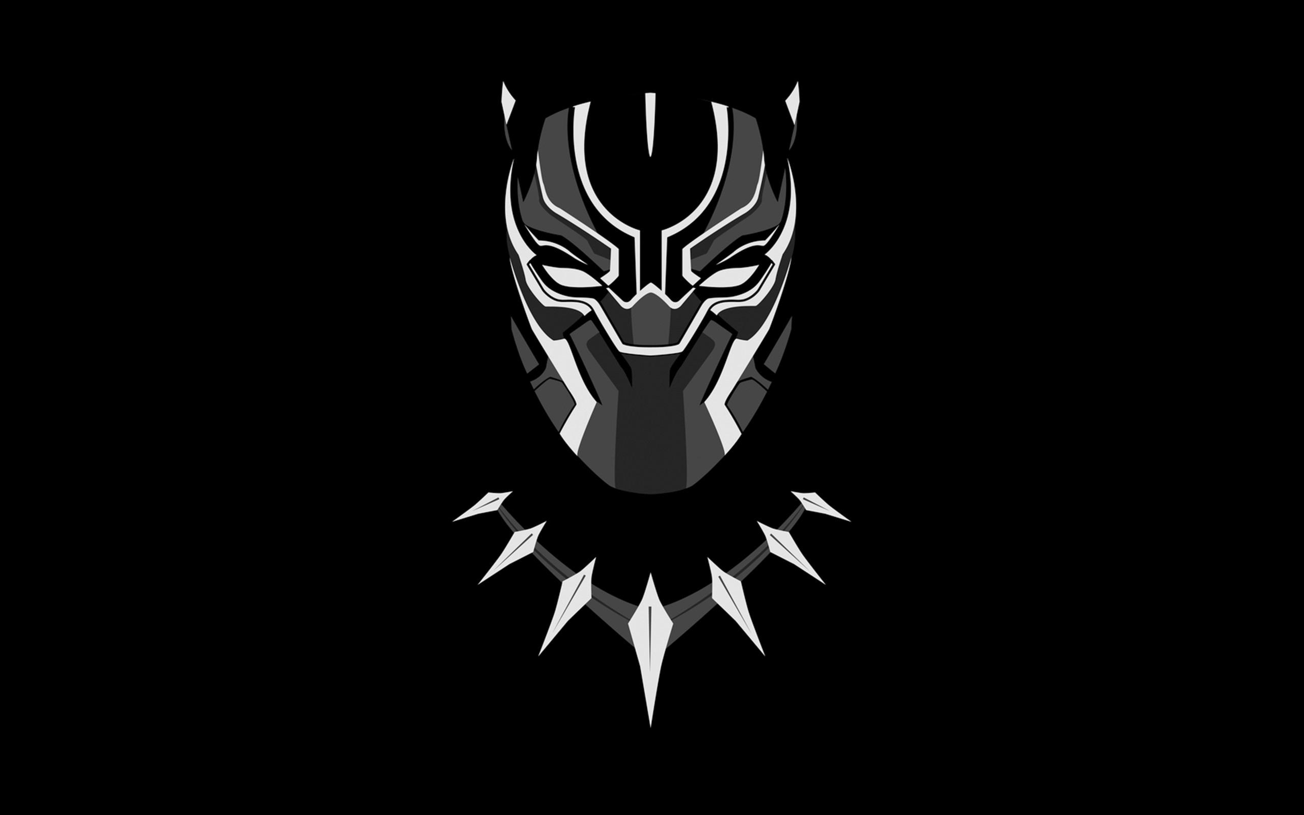 Black panther minimal artwork full hd 2k wallpaper download original voltagebd Gallery