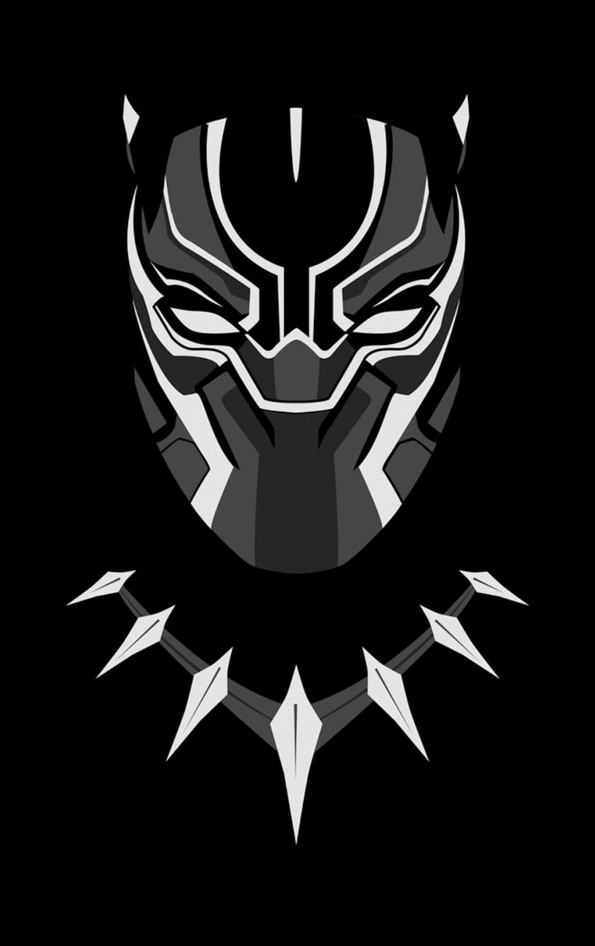 Black Panther Minimal Artwork Full HD 2K Wallpaper