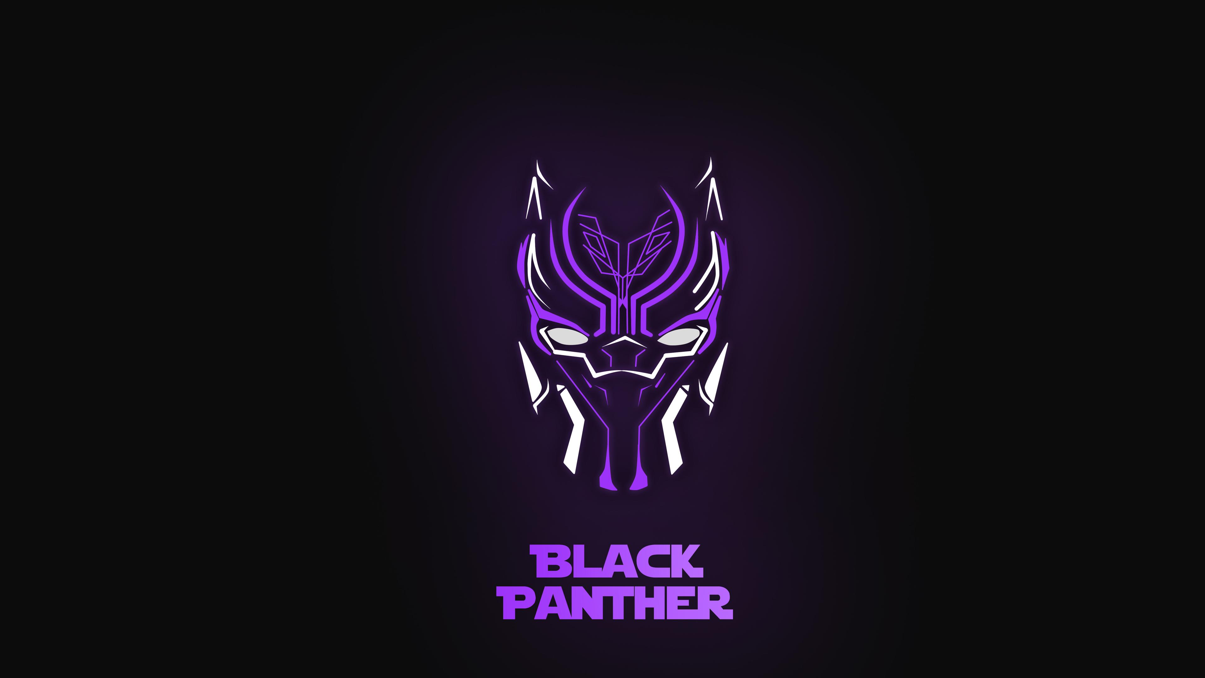 3840x2160 Black Panther Minimal Mask 4K Wallpaper, HD ...