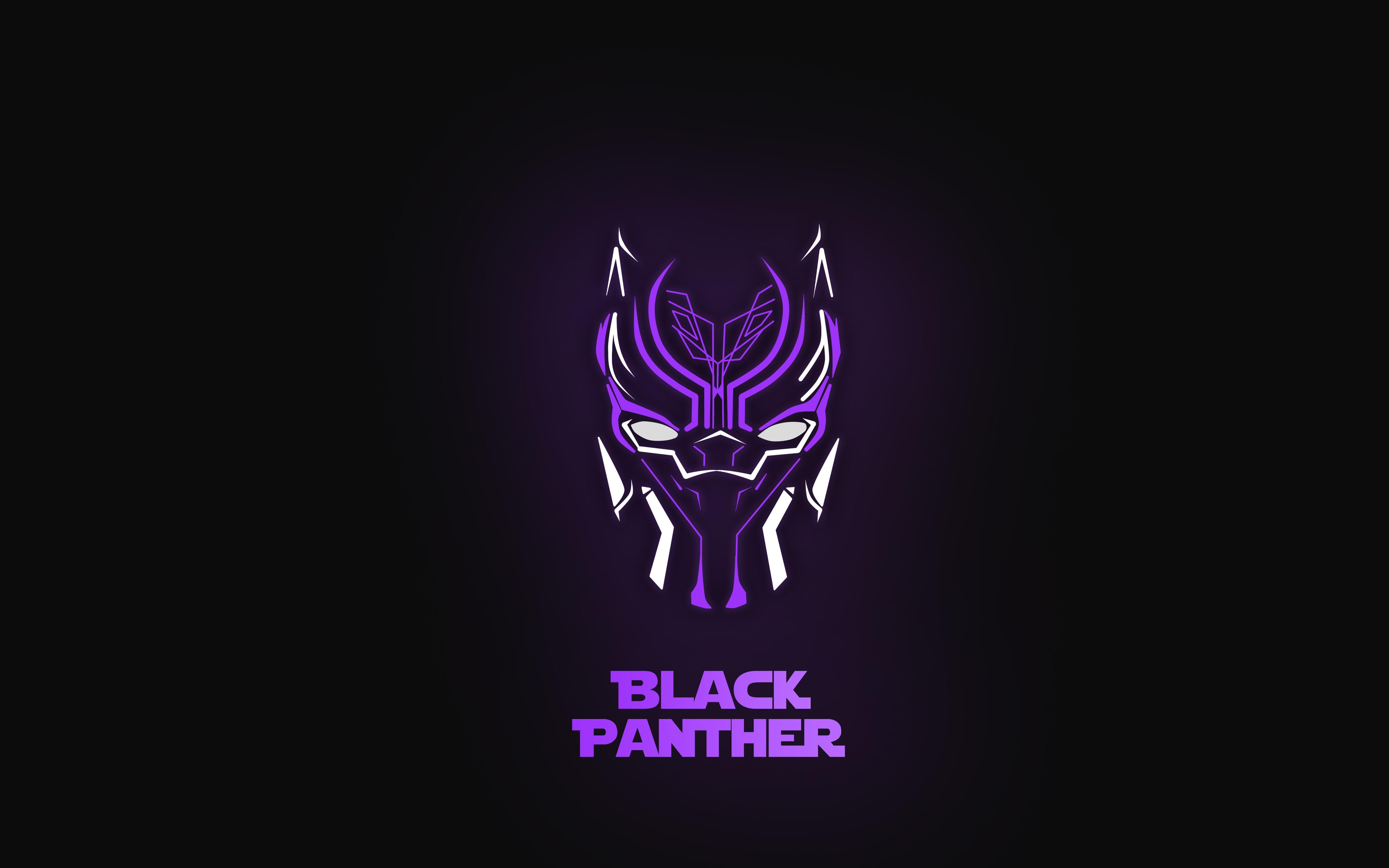 Black Panther Minimal Mask Wallpaper Hd Superheroes 4k