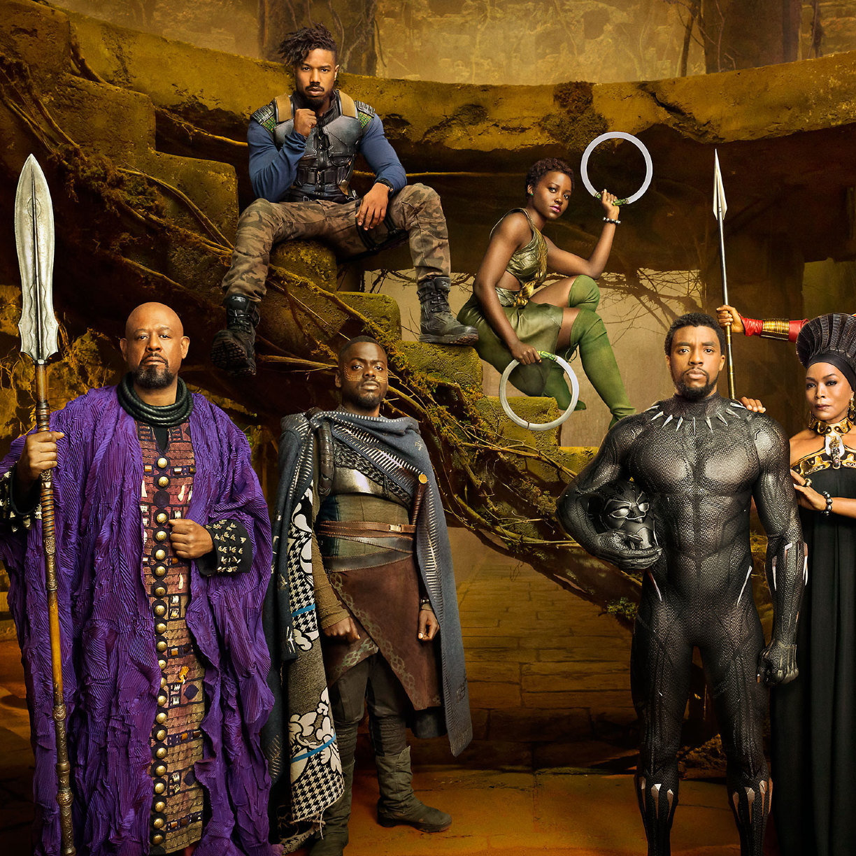 1224x1224 Black Panther Movie Cast 1224x1224 Resolution Wallpaper Hd Movies 4k Wallpapers Images Photos And Background
