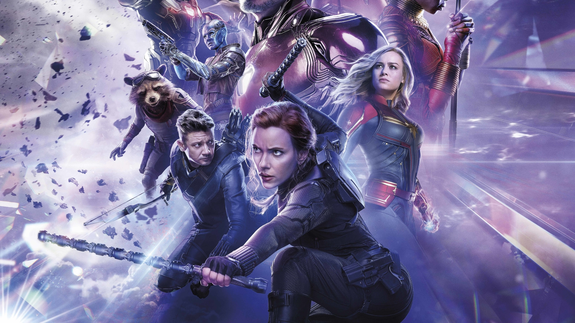 1920x1080 Black Widow Avengers Endgame Official Poster ...