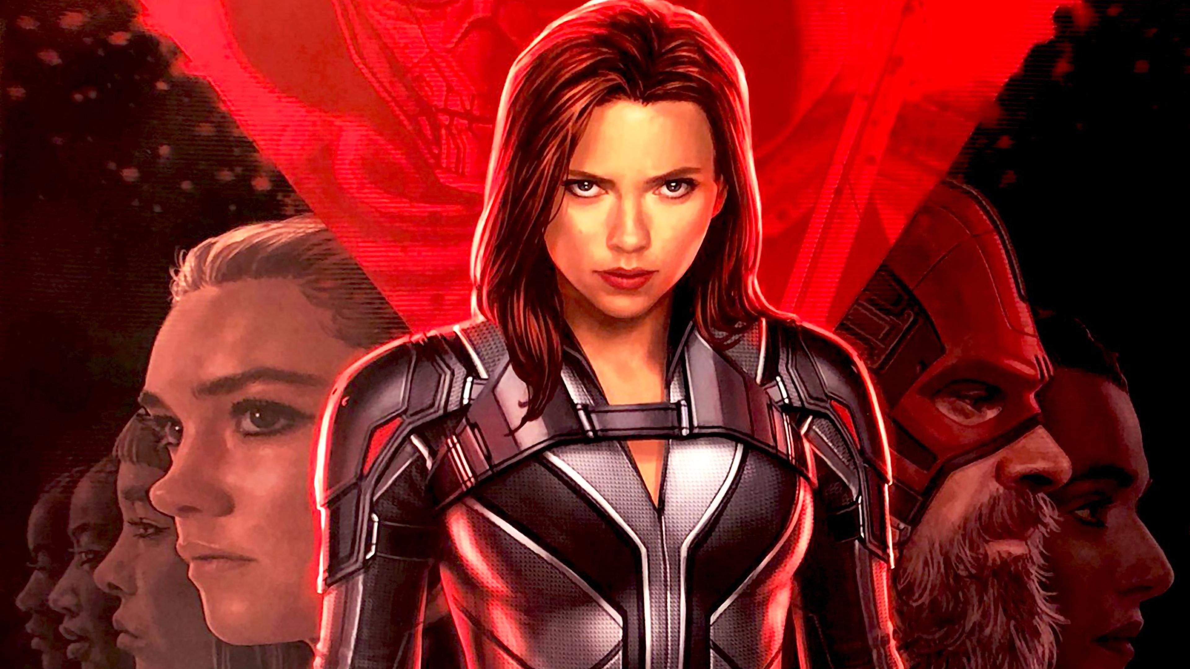3840x2160 Black Widow Movie Poster 4k Wallpaper Hd Movies