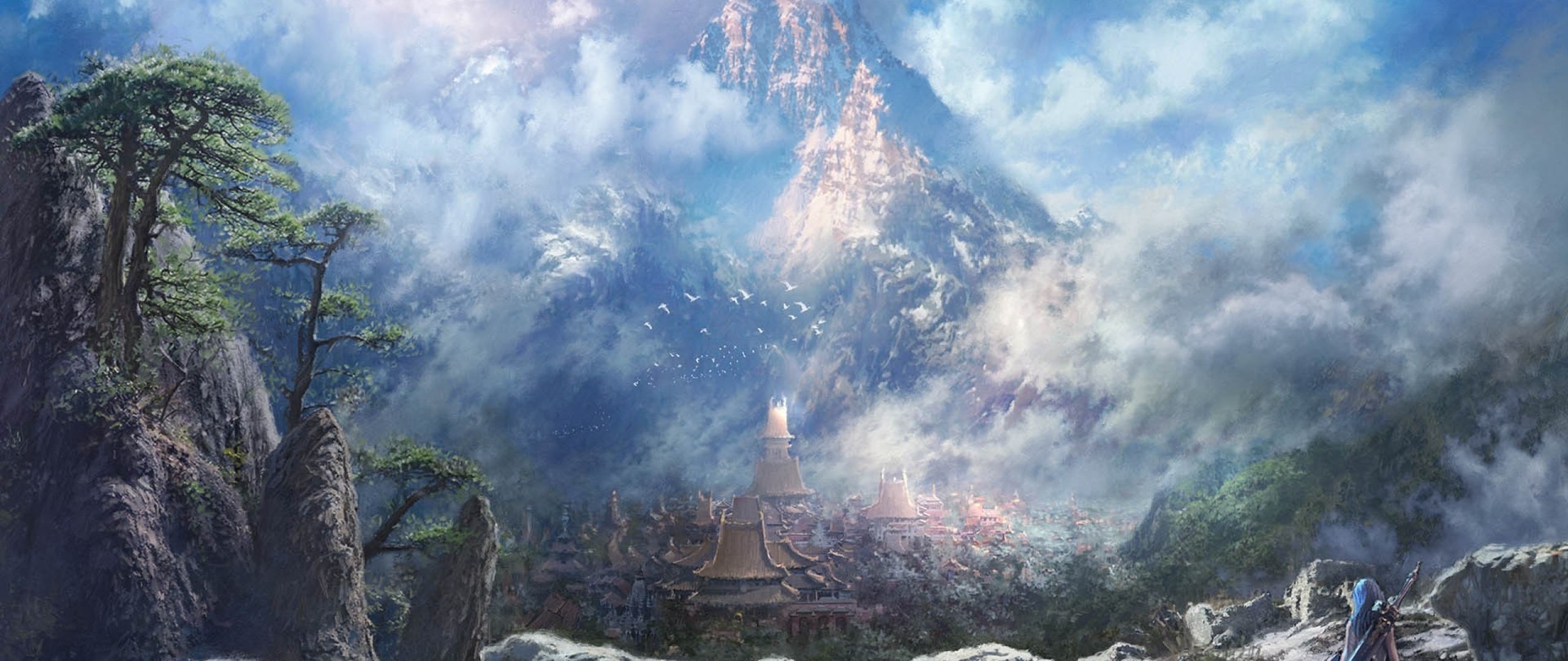 2560x1080 Blade And Soul Mountains Rock 2560x1080 Resolution
