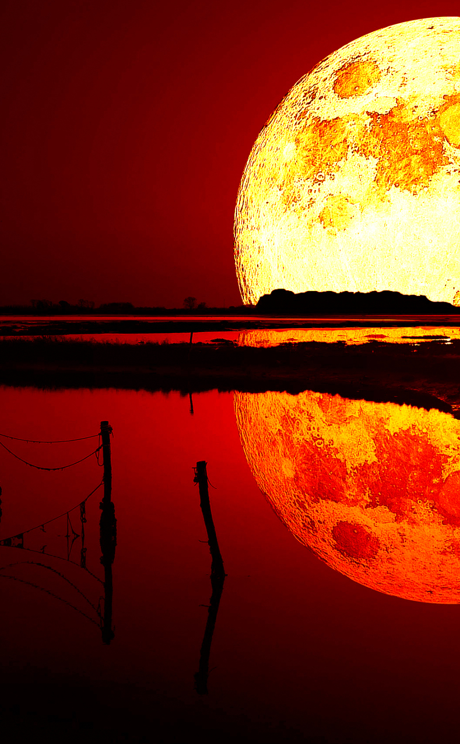 Blood Moon, Full HD 2K Wallpaper