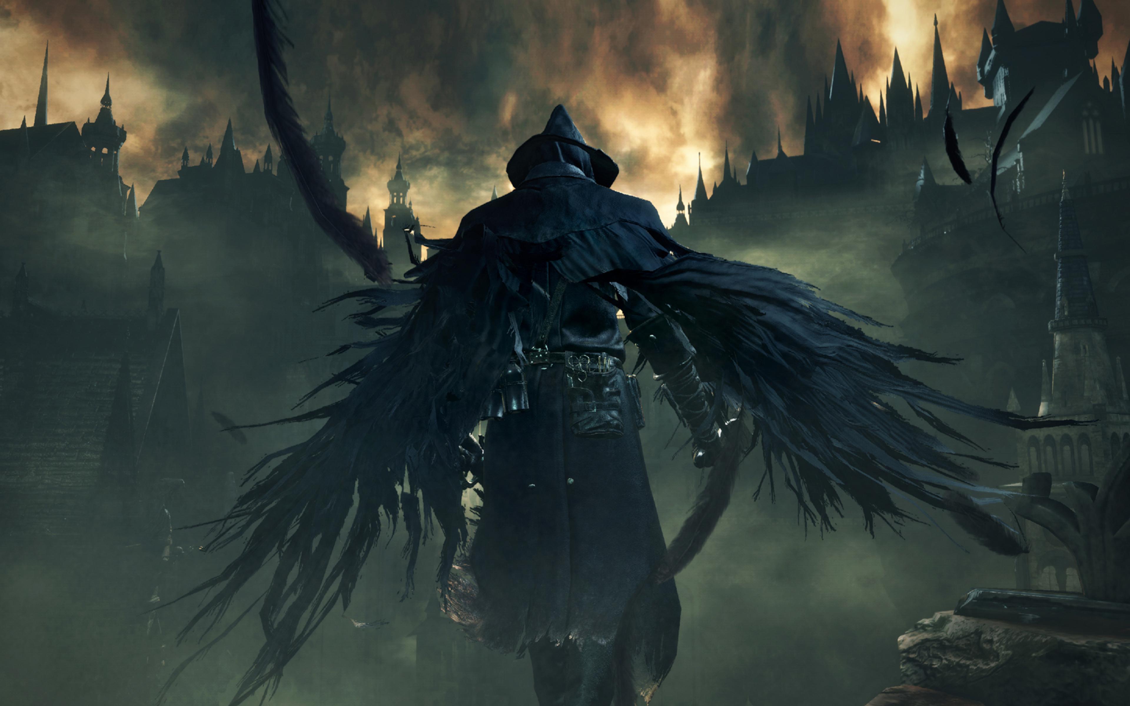Bloodborne, Dark Souls, Wings, Full HD Wallpaper