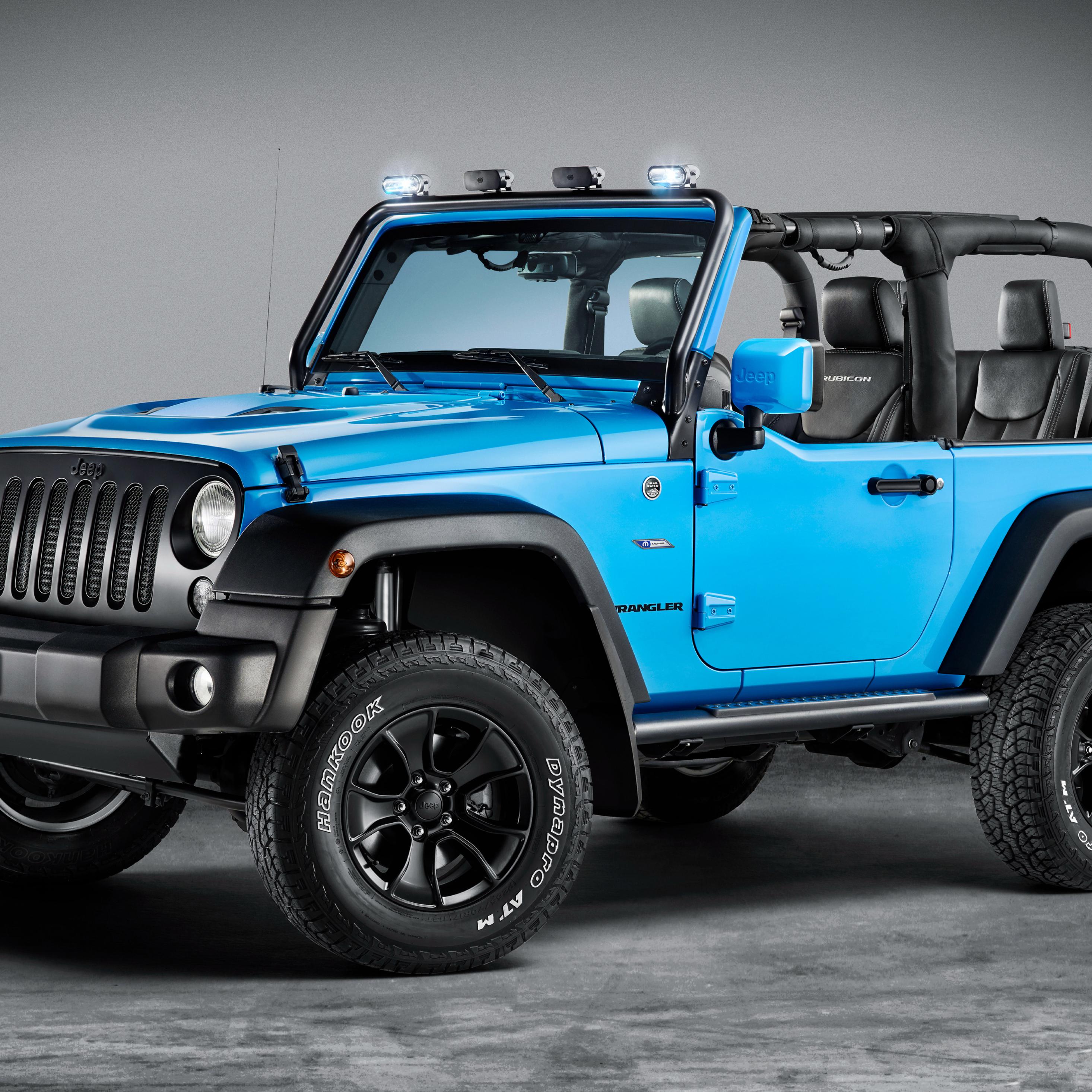 Blue Jeep Wrangler Rubicon, HD 4K Wallpaper