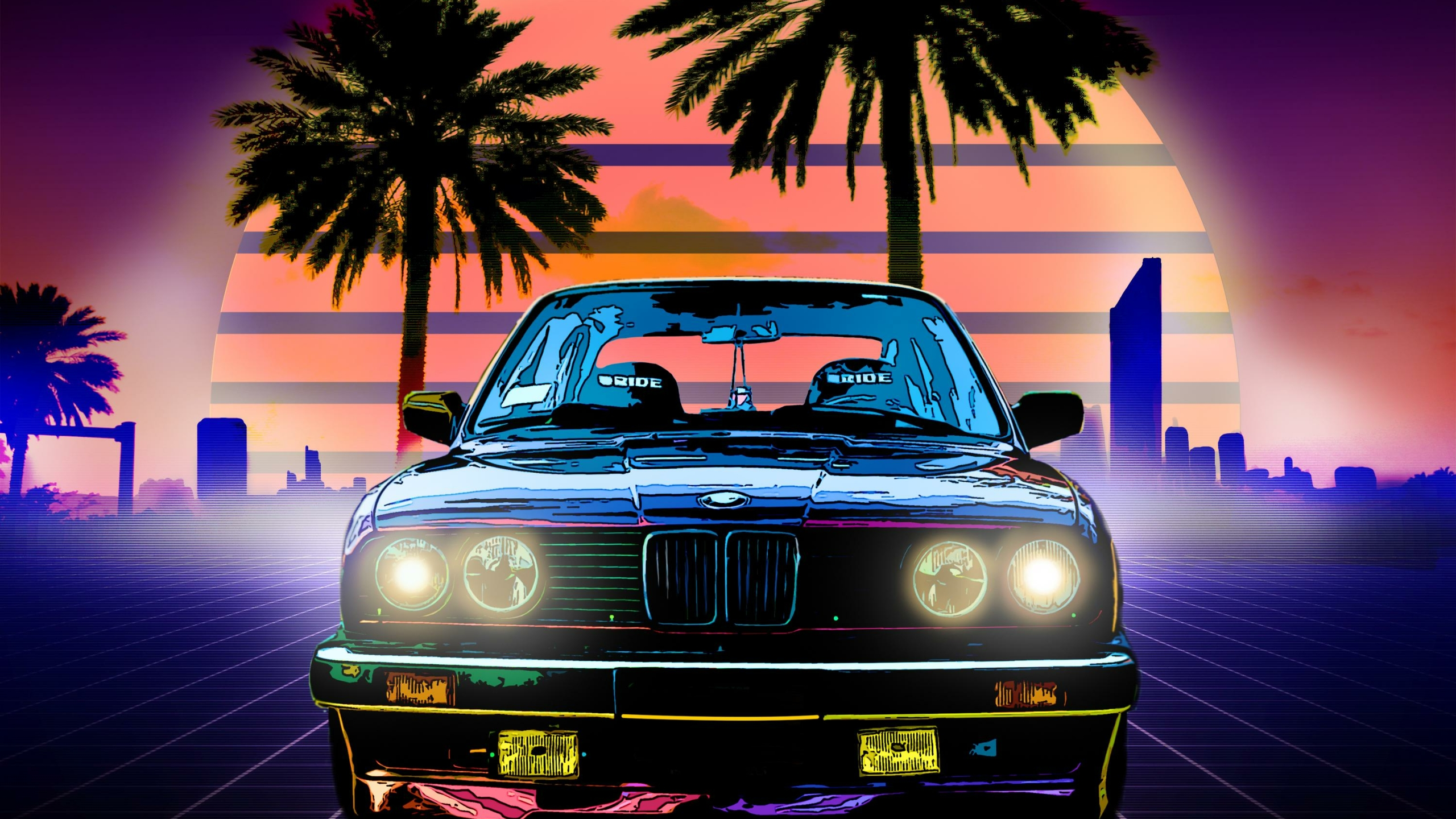 2560x1440 BMW Retro Style 1440P Resolution Wallpaper, HD ...