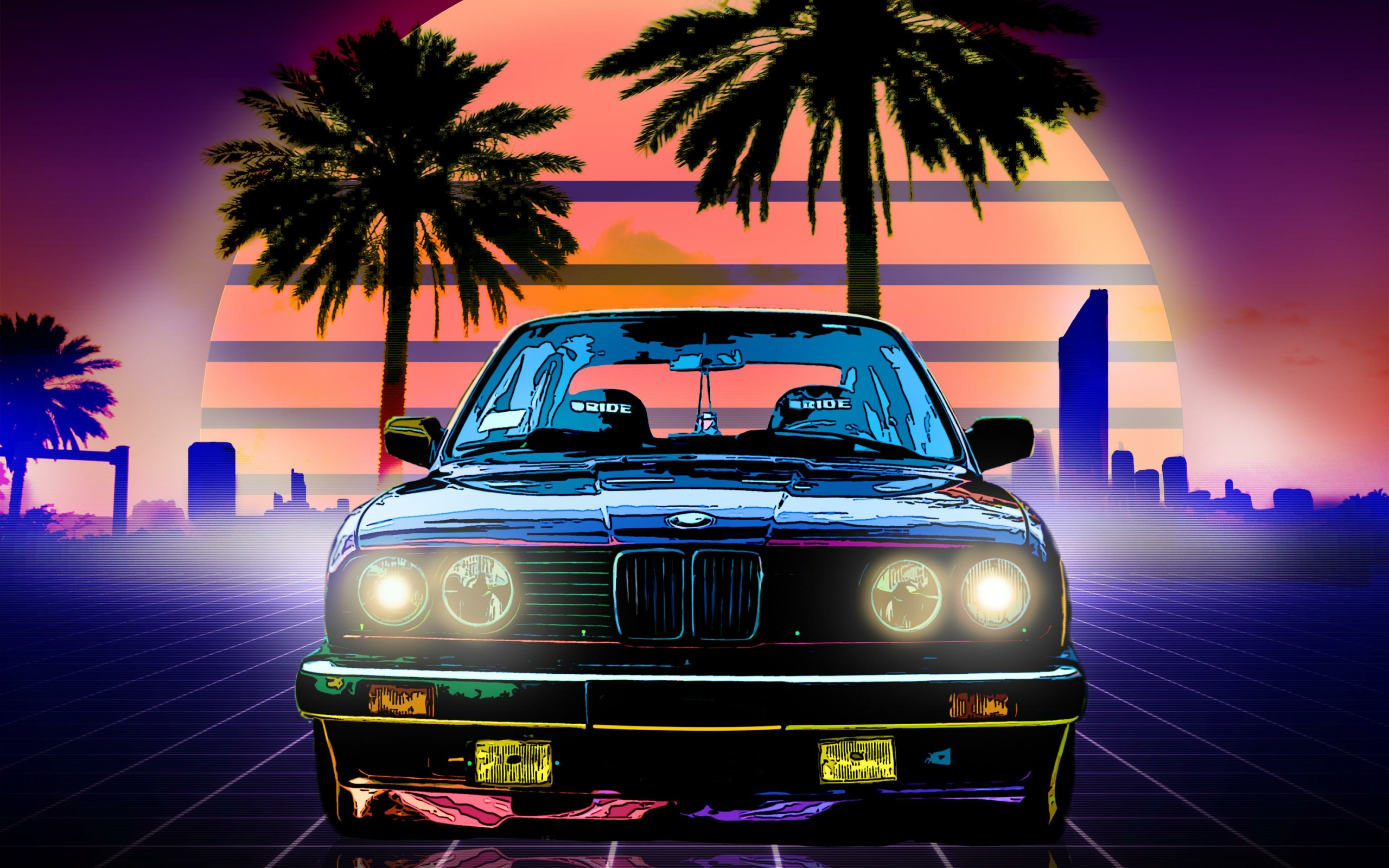 Street Art 4k Hd Desktop Wallpaper For 4k Ultra Hd Tv: Bmw Retro Style, HD 4K Wallpaper