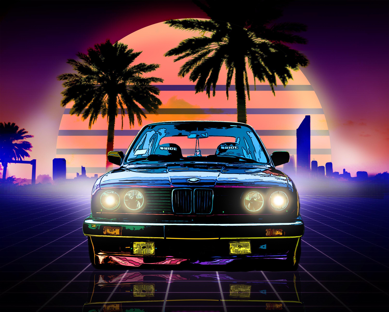 Bmw Retro Style, HD 4K Wallpaper