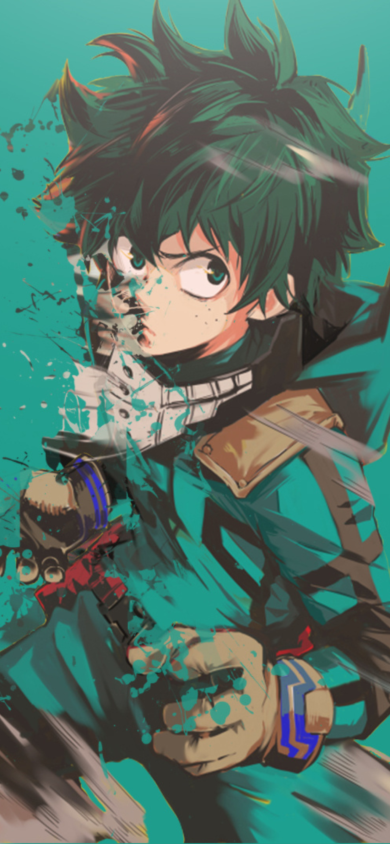 1242x2688 Boku No Hero Academia Midoriya Izuku Art Iphone Xs Max