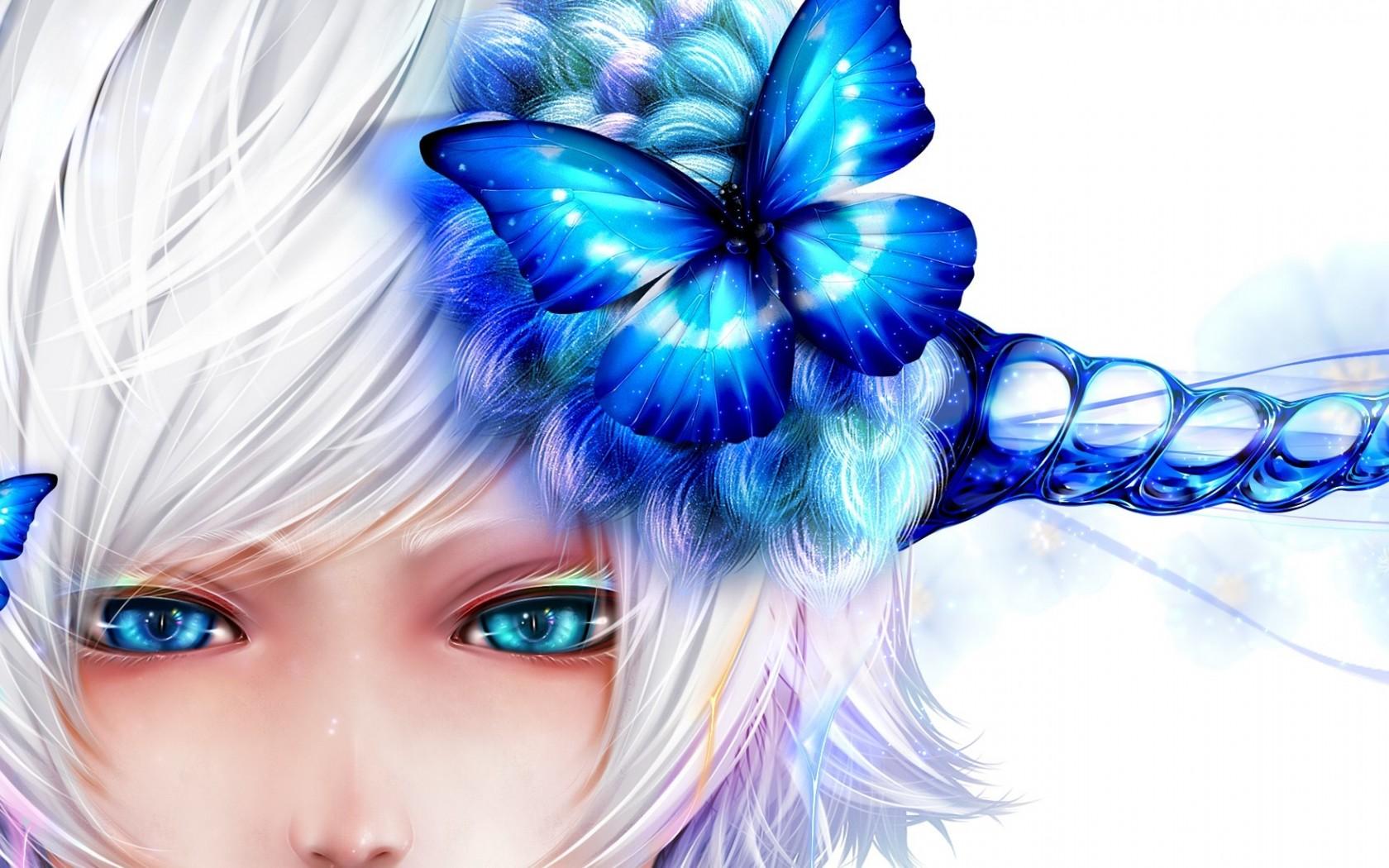 bouno satoshi, butterfly, girl Wallpaper, HD Anime 4K ...
