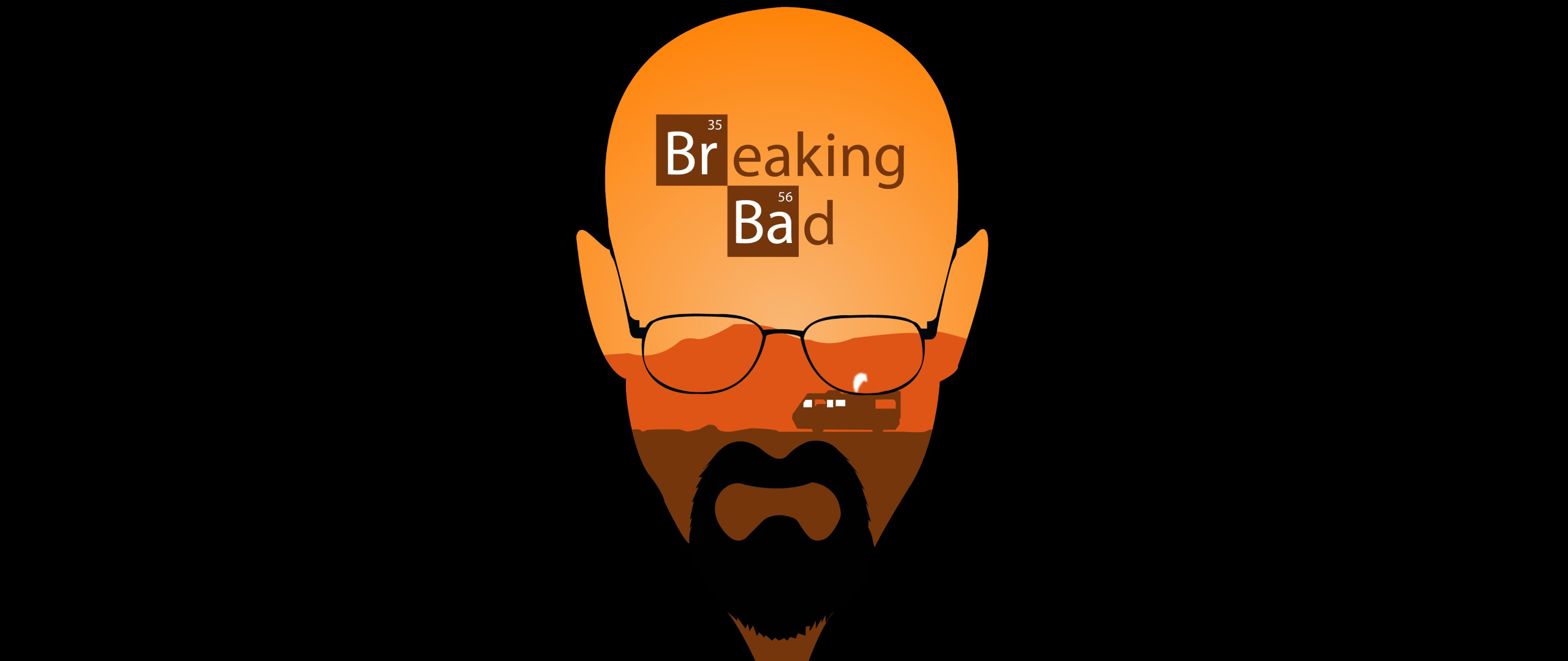 2560x1080 Breaking Bad Minimal Artwork 2560x1080 Resolution
