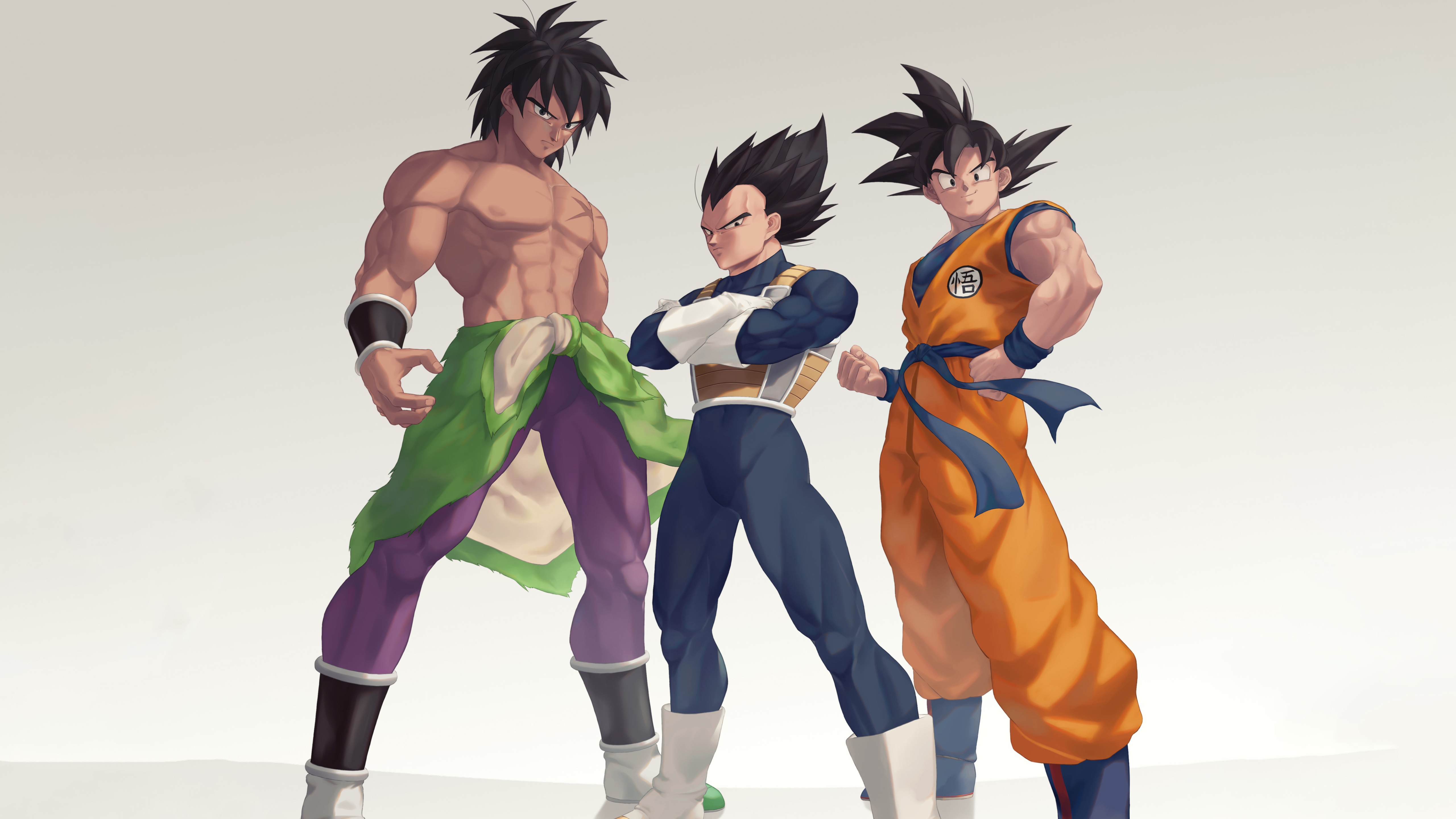 5120x2880 Broly Goku and Vegeta 5K
