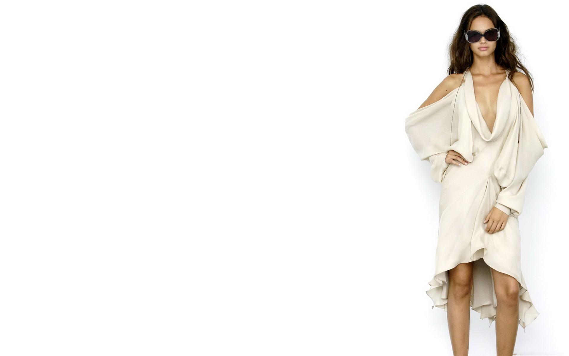 Brunette, Dress, Model Wallpaper, HD Girls 4K Wallpapers