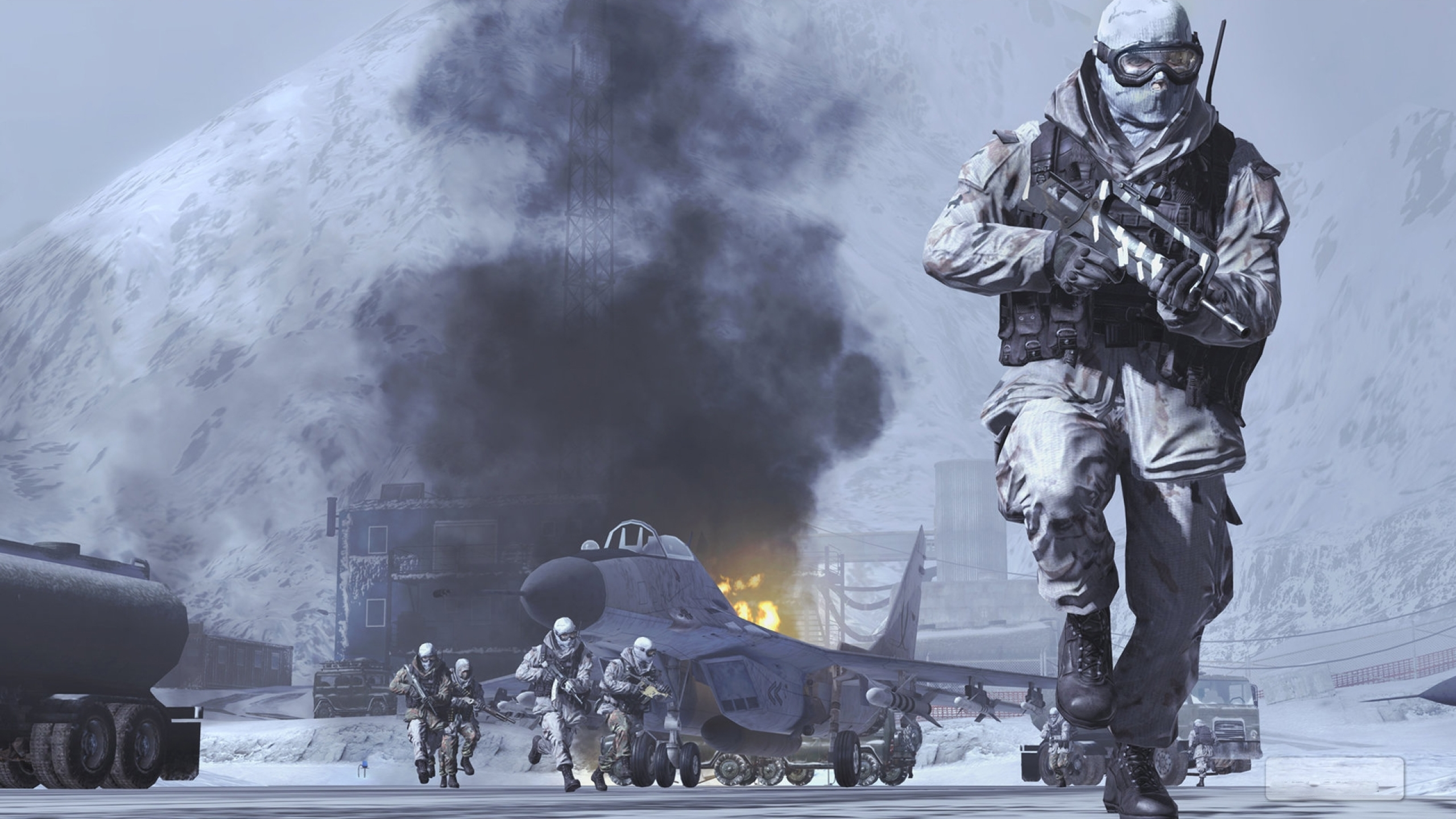 2560x1440 Call Of Duty Modern Warfare 2 Soldiers In Snow 1440p