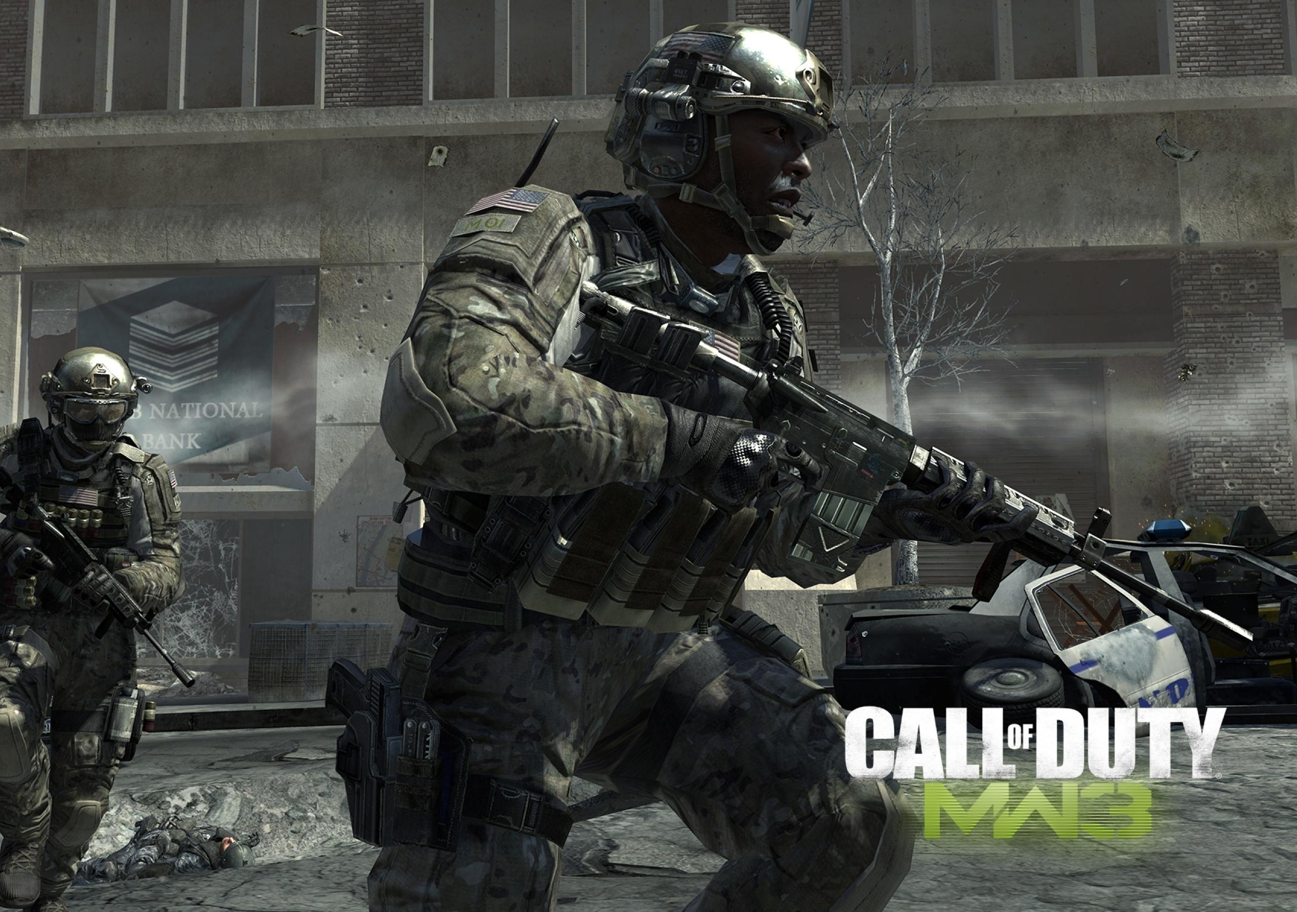 2560x1800 Call Of Duty Modern Warfare 3 Soldiers Bank Machines