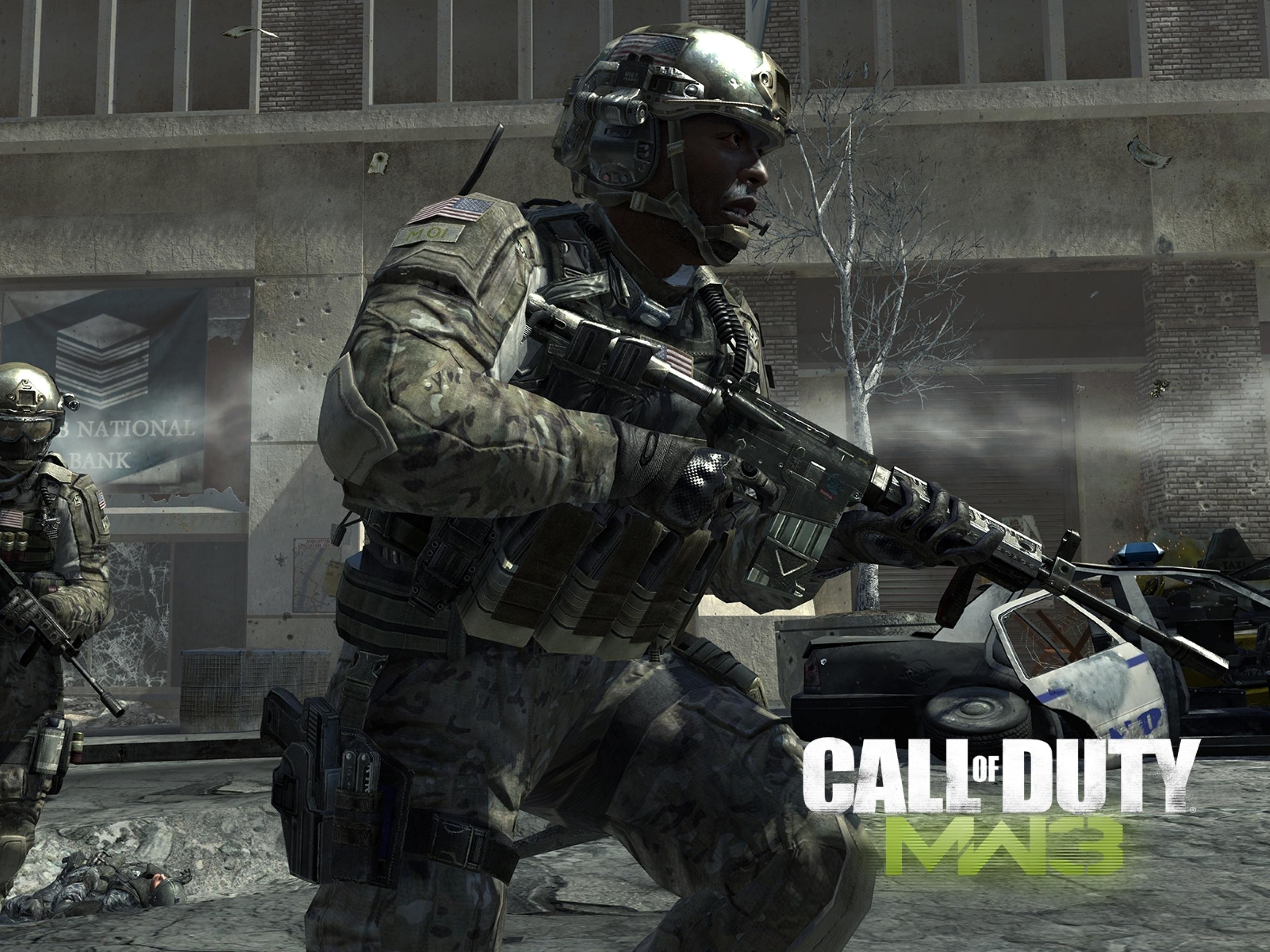 2732x2048 Call Of Duty Modern Warfare 3 Soldiers Bank Machines