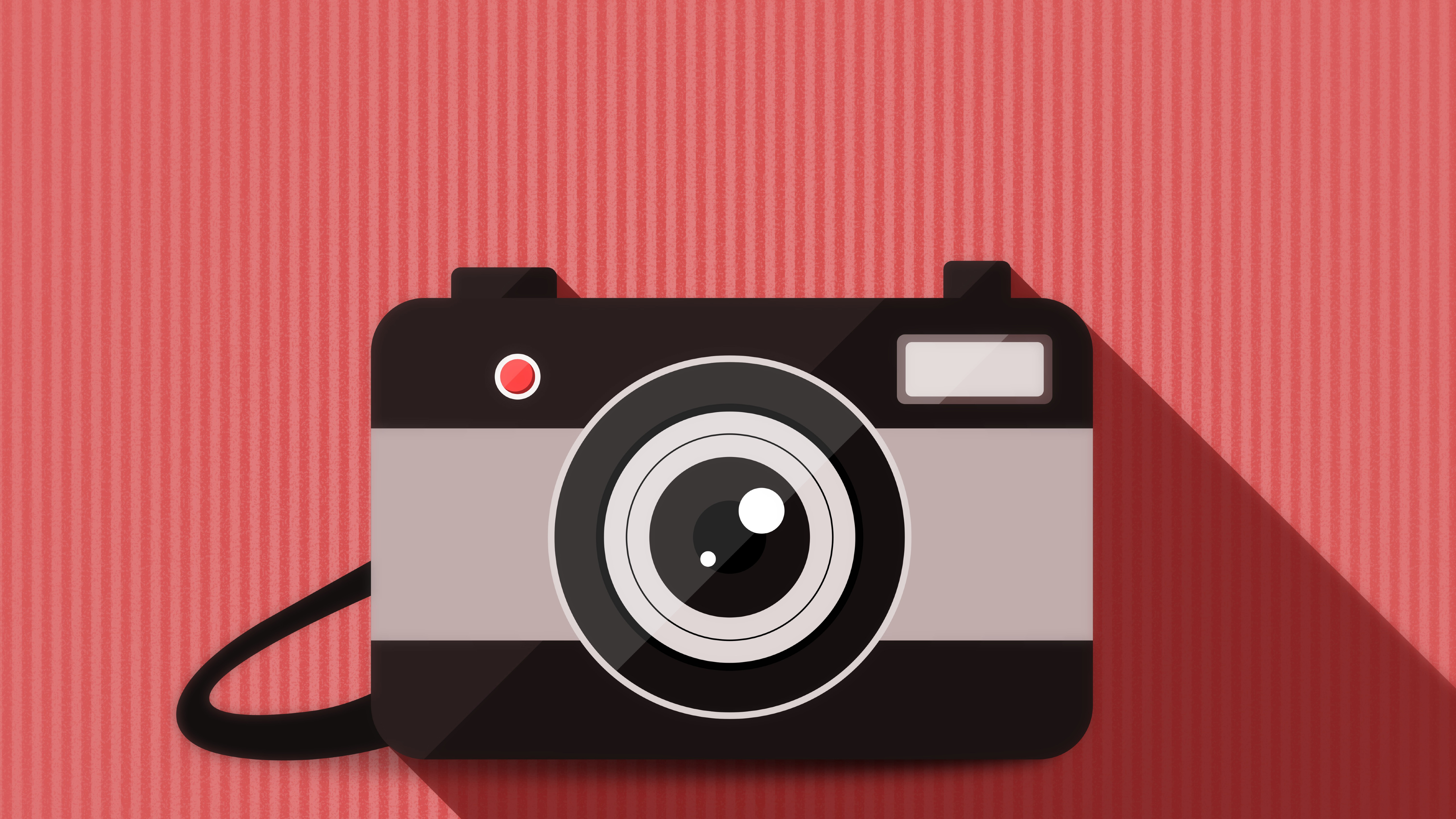 Camera Vector Minimalism Hd 8k Wallpaper