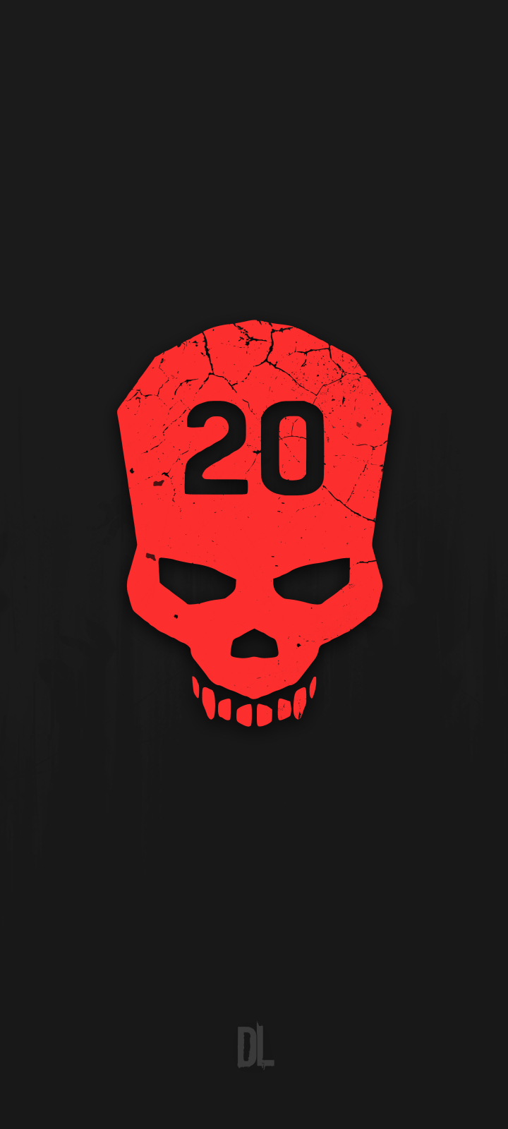 720x1600 Cant Touch This Dying Light Minimalist Skull 720x1600