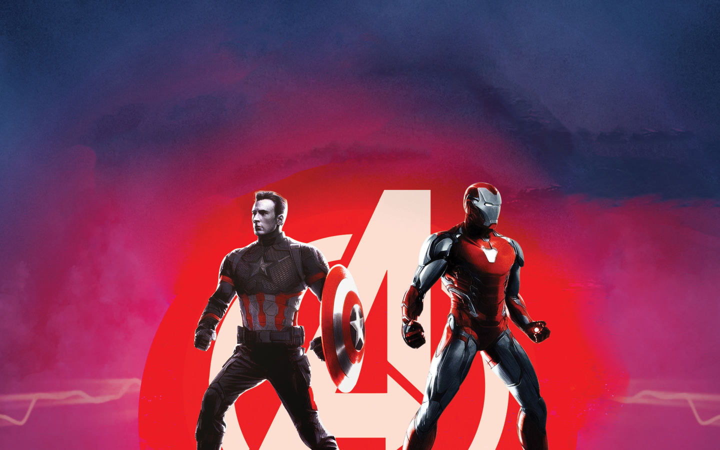 Captain America and Iron Man Avengers Endgame Wallpaper in 1440x900 Resolution