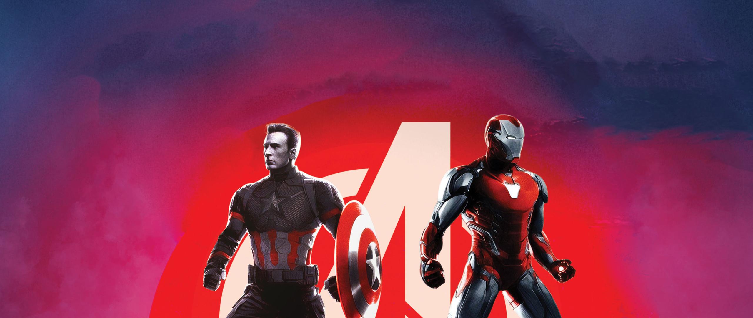 2560x1080 Captain America And Iron Man Avengers Endgame 2560x1080