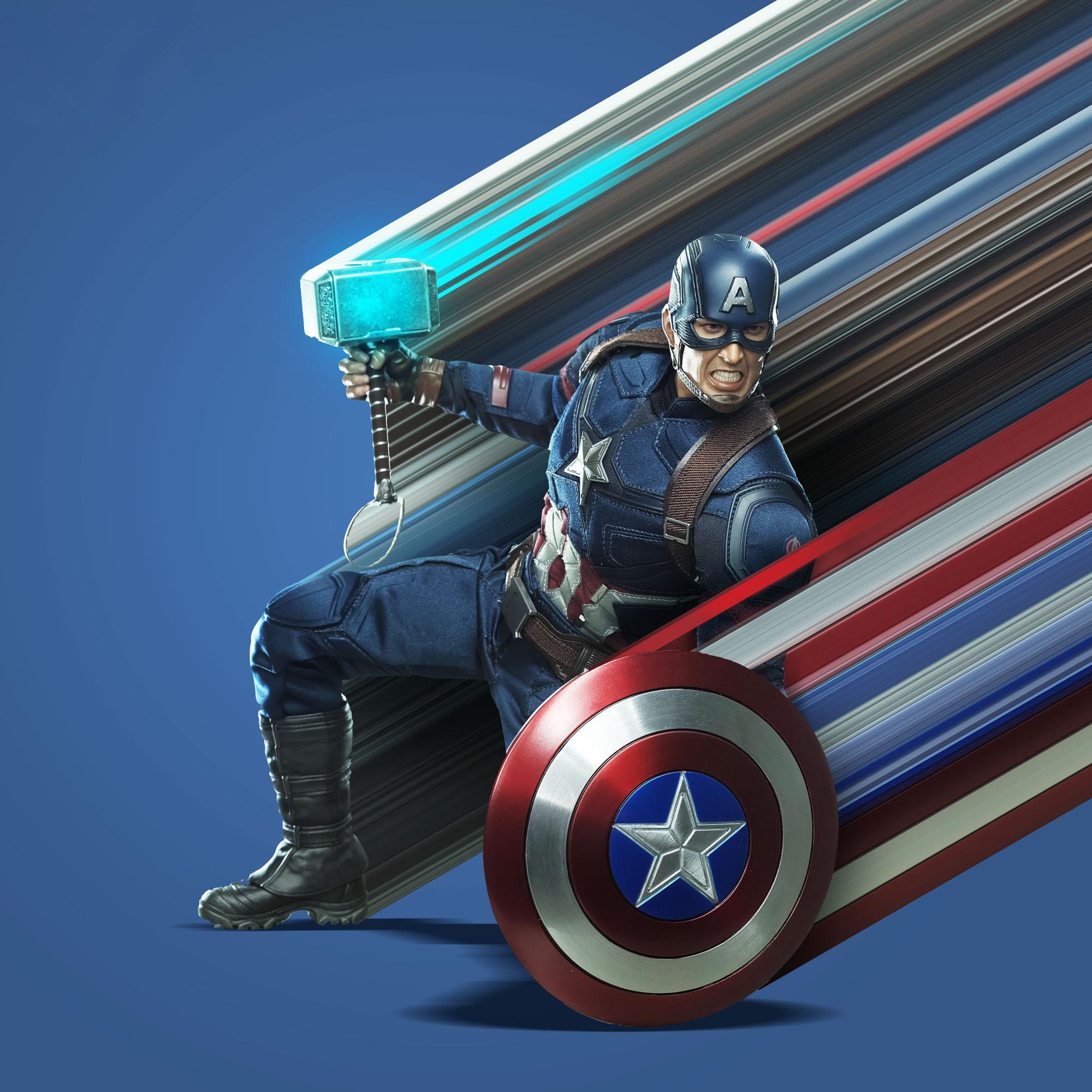 Captain America Avengers Endgame Art Wallpaper, HD Artist
