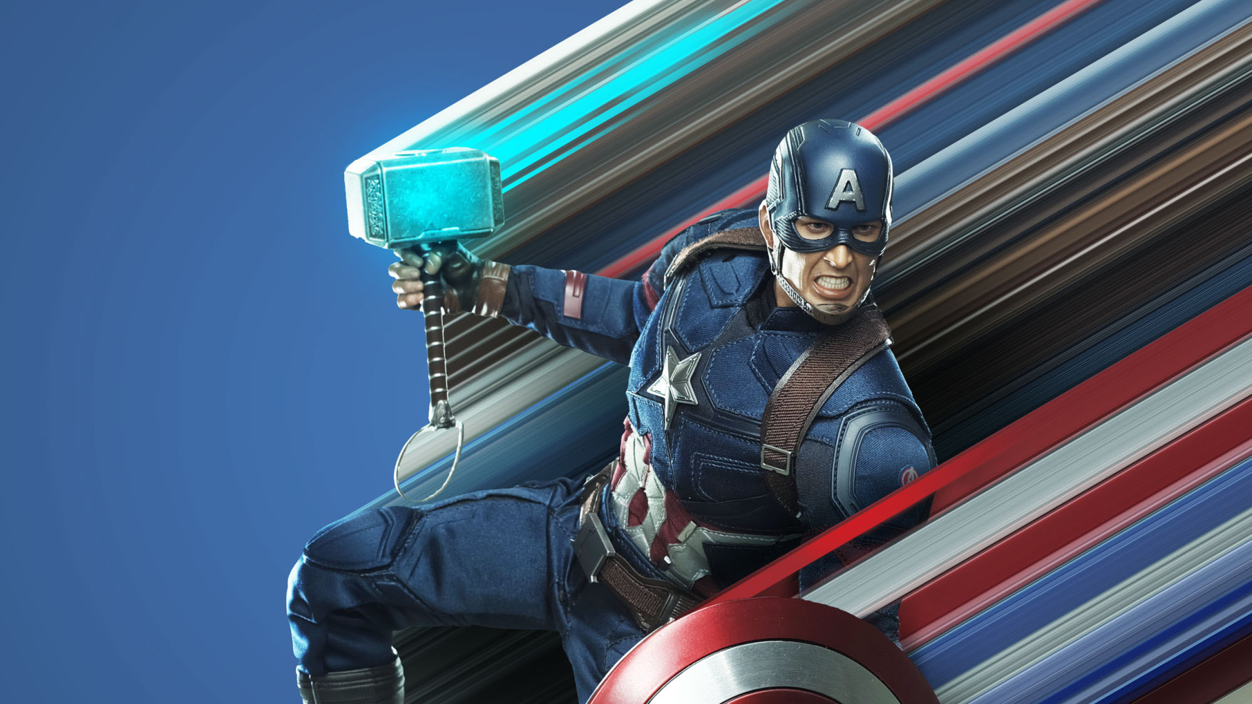 2560x1440 Captain America Avengers Endgame Art 1440p Resolution