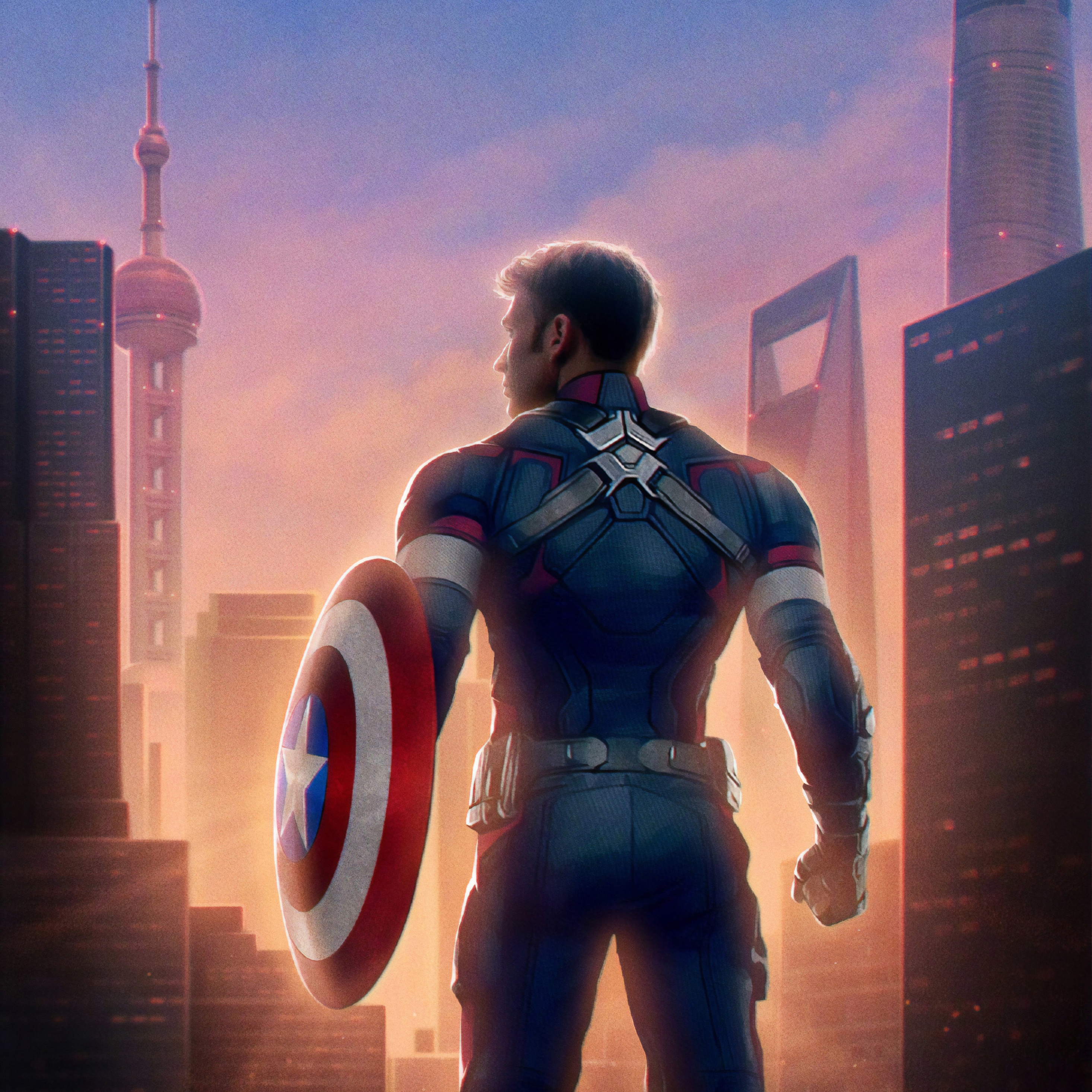 2932x2932 Captain America Avengers Endgame Ipad Pro Retina