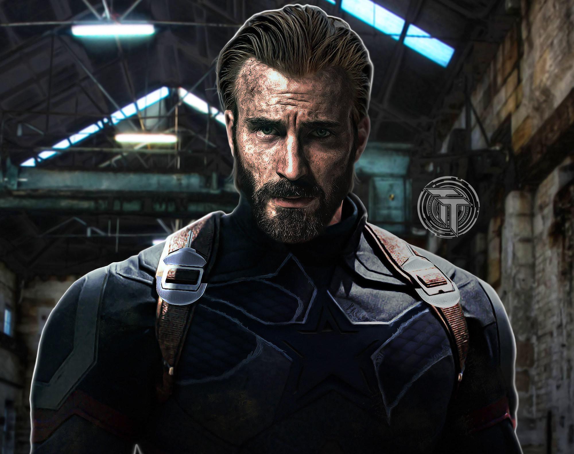 Captain America Beard Look In Infinity War Wallpaper Hd