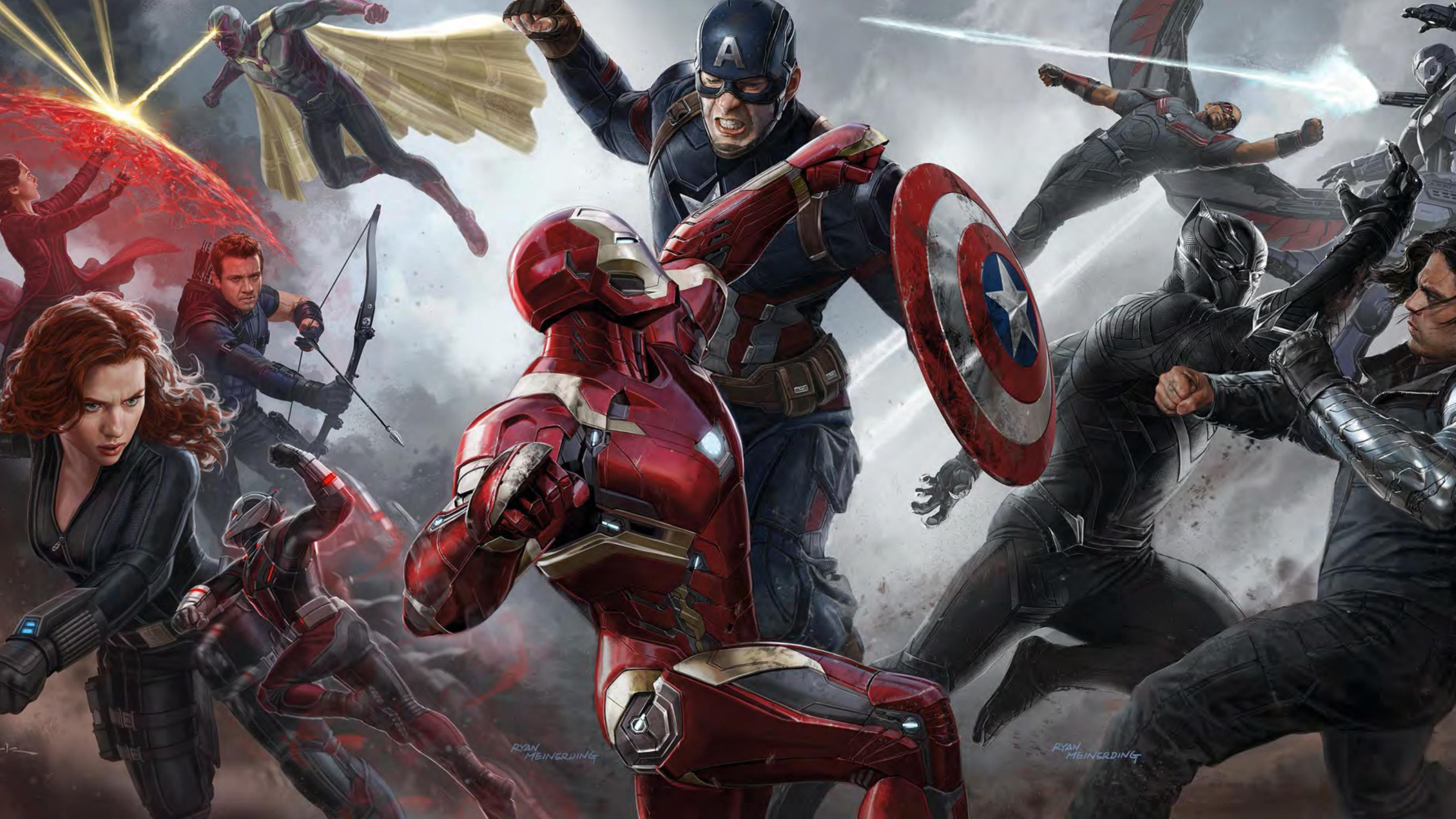 Captain America Civil War Team Iron Man With Moving Smoke Live