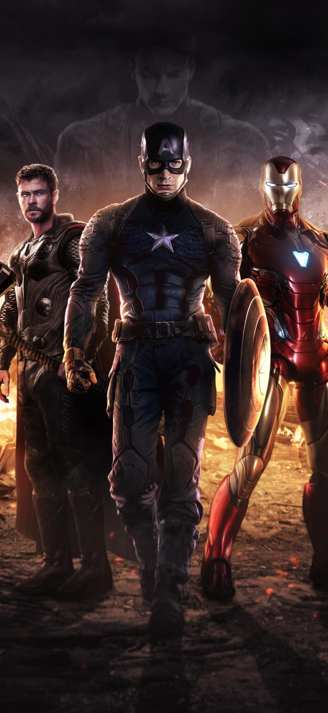 1080x2340 Captain America Iron Man Thor Avengers 1080x2340