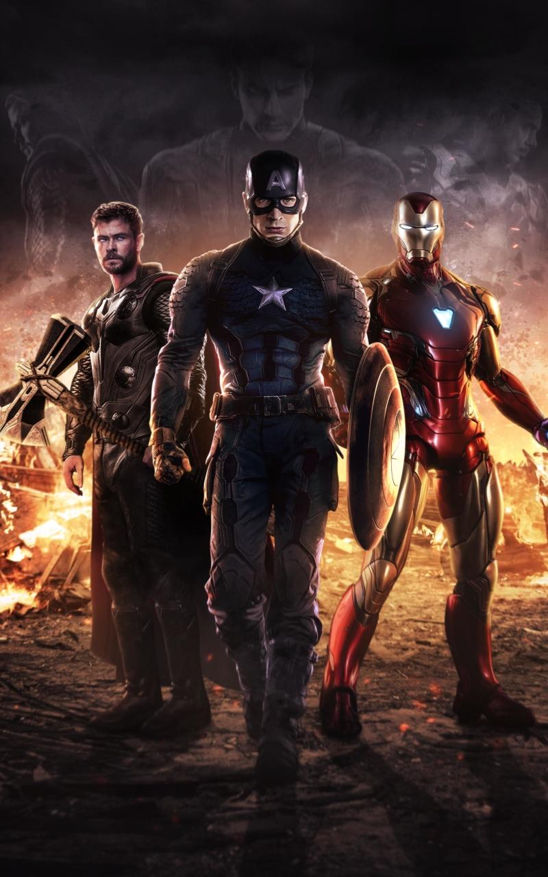 800x1280 Captain America Iron Man Thor Avengers Nexus 7
