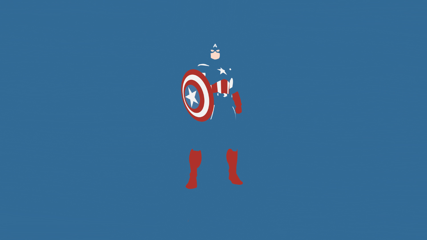 Simple Wallpaper Marvel Laptop - captain-america-marvel-comics-minimalism_59704_1366x768  Perfect Image Reference_80331.jpg