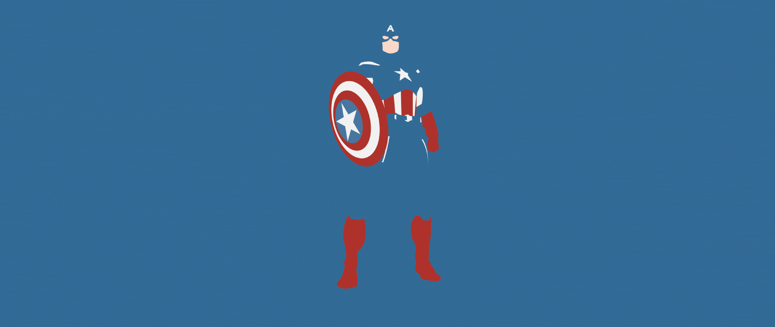 captain america marvel comics minimalism full hd wallpaper