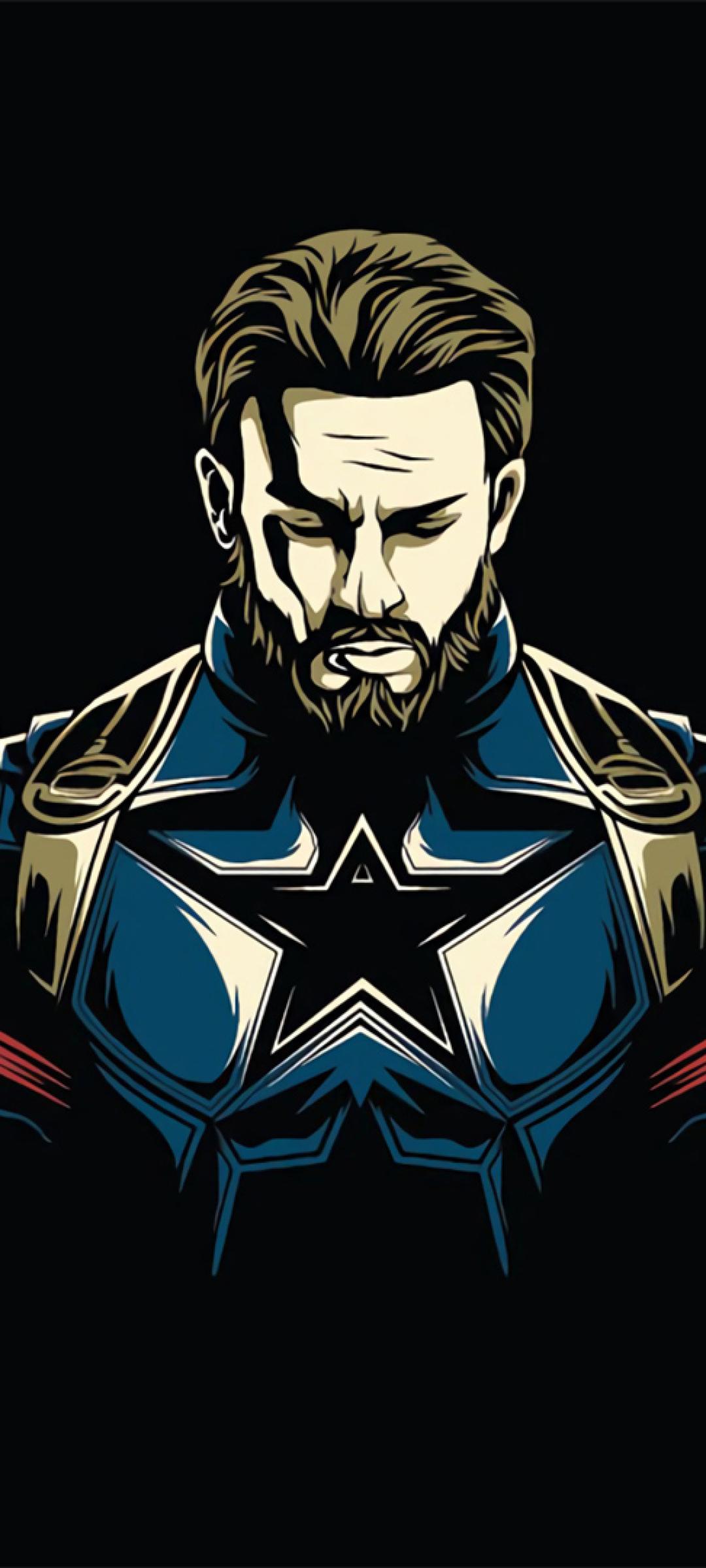 1080x2400 Captain America Minimalist Design 1080x2400 ...